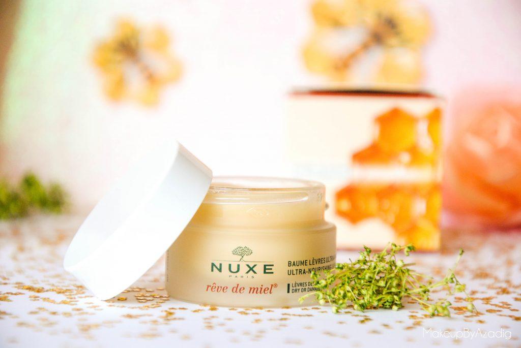 makeupbyazadig-reve de miel - nuxe - doctipharma - baume a levres-parapharmacie en ligne - abeilles
