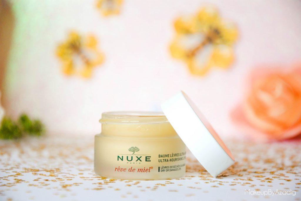 makeupbyazadig-reve de miel - nuxe - doctipharma - baume a levres-parapharmacie en ligne - doctissimo