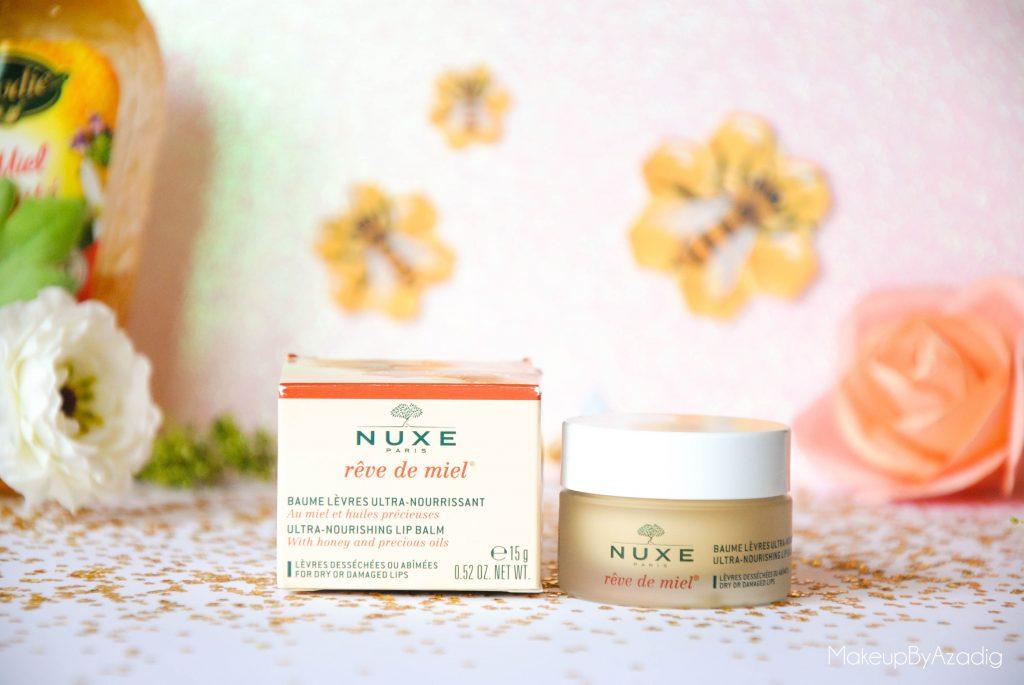 makeupbyazadig-reve de miel - nuxe - doctipharma - baume a levres-parapharmacie en ligne - huiles