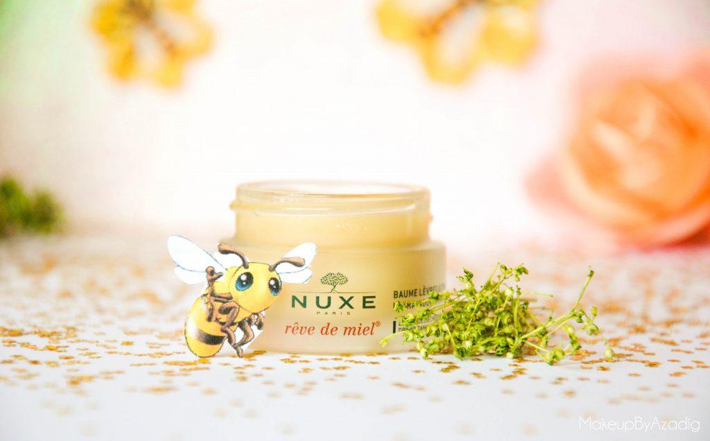 makeupbyazadig-reve de miel - nuxe - doctipharma - baume a levres-parapharmacie en ligne - miel