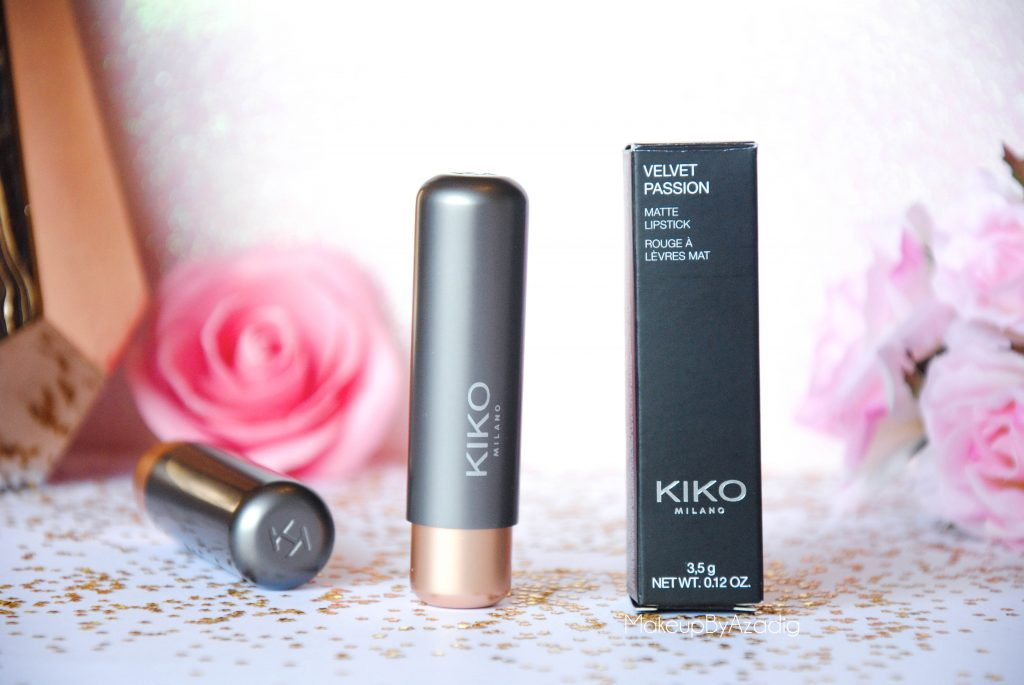 velvet passion matte kiko milano cosmetics beauty blogger makeupbyazadig rouge a levres - presentation