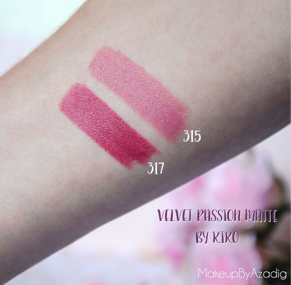 velvet passion matte kiko milano cosmetics beauty blogger makeupbyazadig rouge a levres swatch