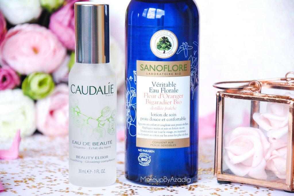 eau de beaute - caudalie - sanoflore - eau florale - produits de parapharmacie - makeupbyazadig - blog troyes - miniature