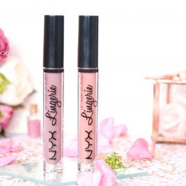 lip lingerie - revue - swatch- nyx cosmetics - embellishment - bedtime flirt - makeupbyazadig - enjoyphoenix - troyes - minuature