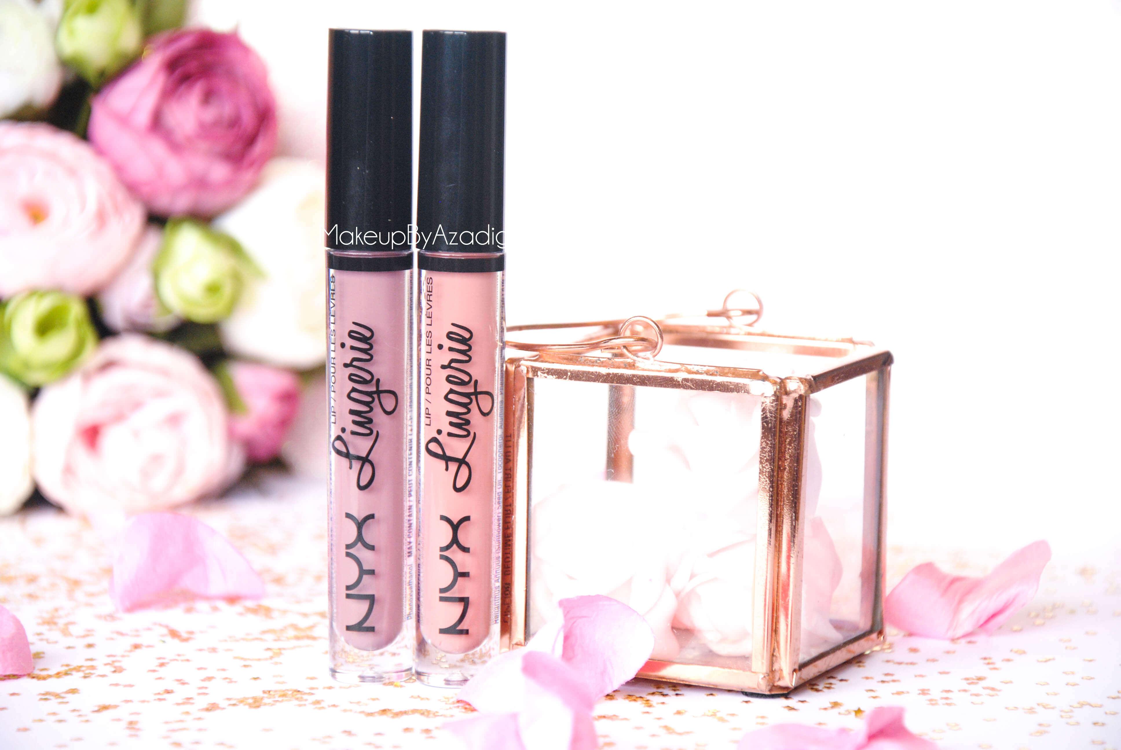 lip lingerie - revue - swatch- nyx cosmetics - embellishment - bedtime flirt - makeupbyazadig - enjoyphoenix - troyes - rose