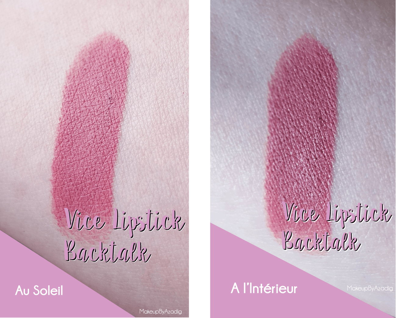 vice lipstick-urban decay-makeupbyazadig-backtalk-mauve-rouge a levres-avis-revue-swatch-review-rose