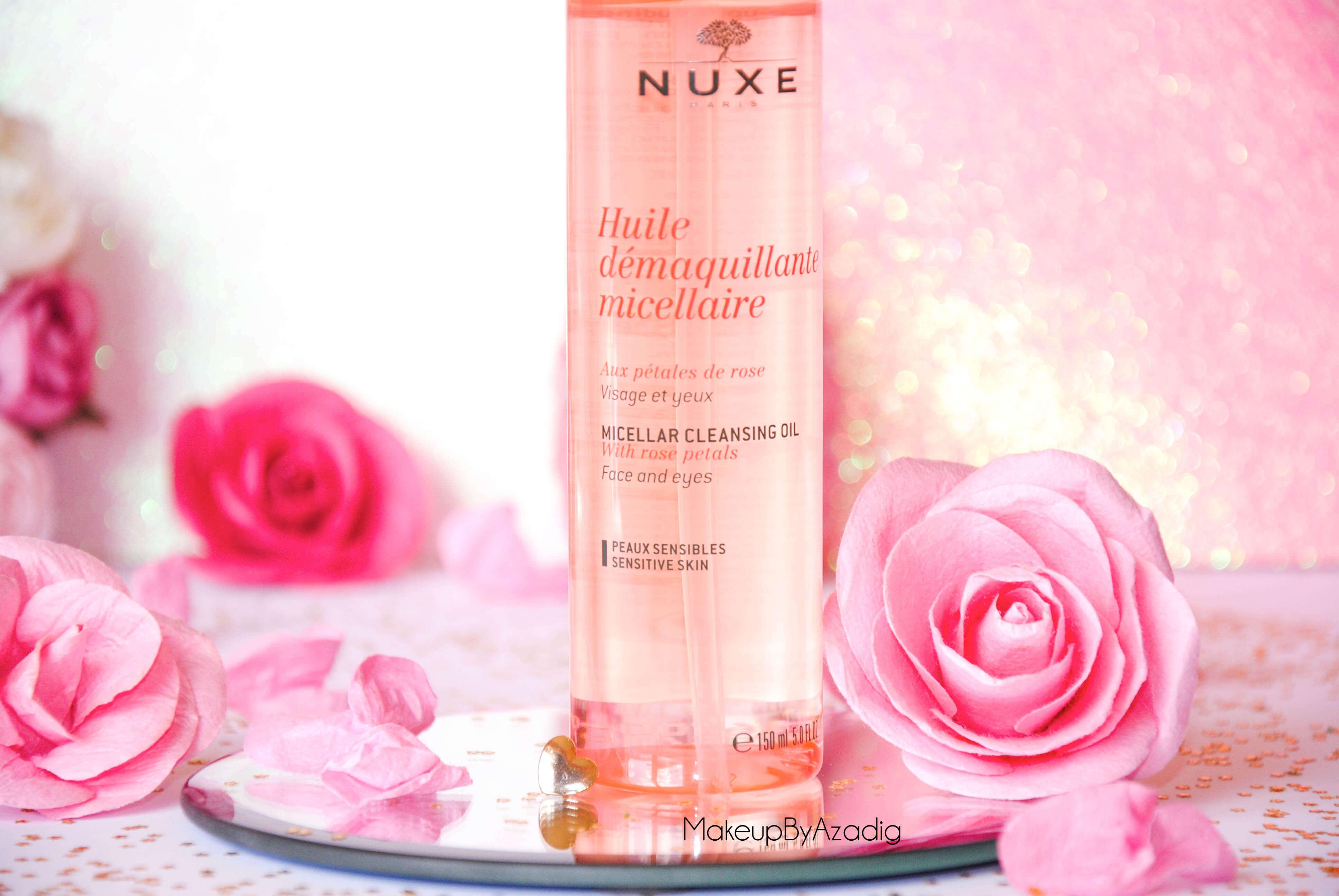 makeupbyazadig-huile-demaquillante-micellaire-nuxe-petales-de-rose-doctipharma-revue-avis-prix-peaux-sensibles