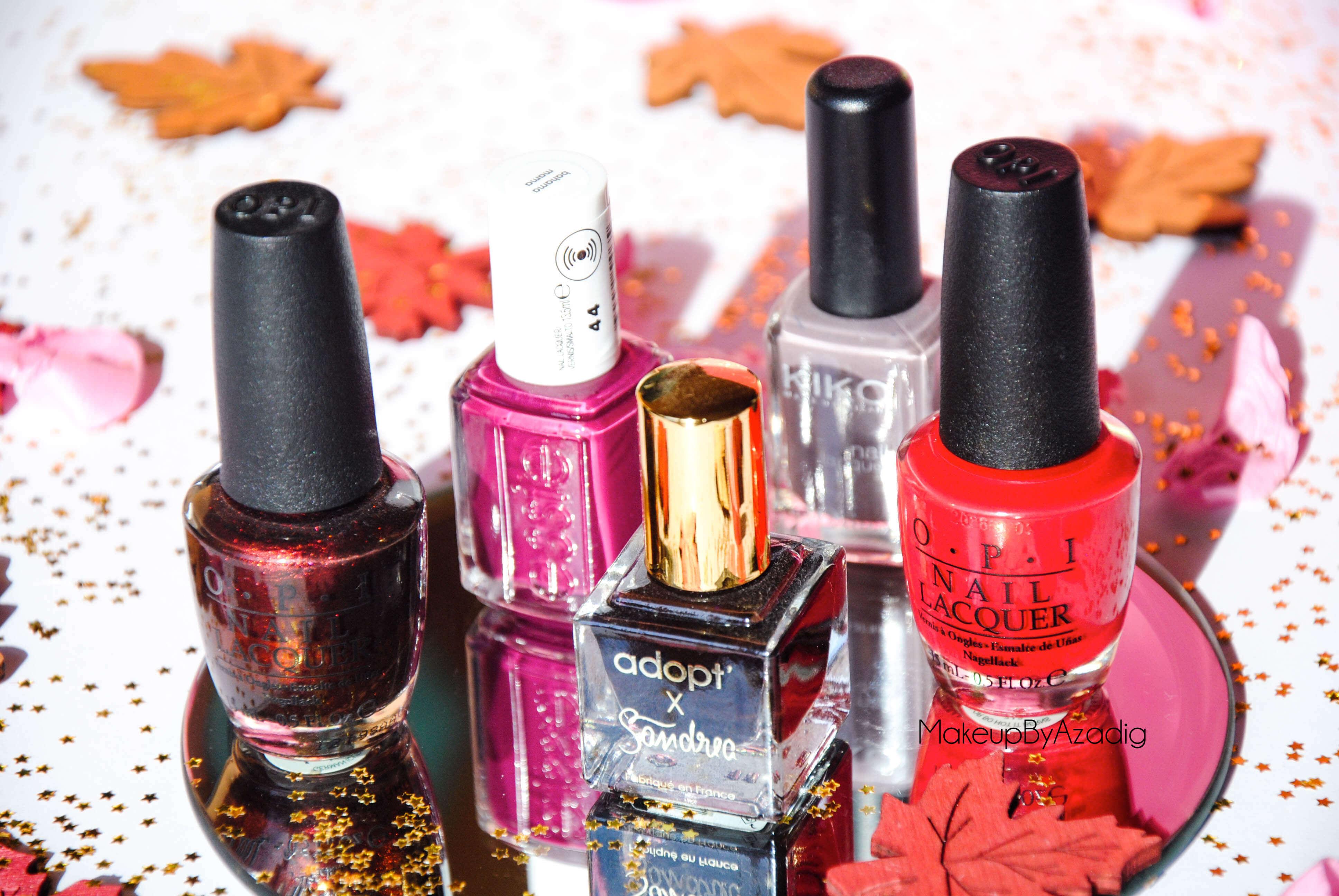 makeupbyazadig-vernis-tendance-automne-nails-autumn-formula-x-monop-makeup-troyes-dijon-paris-sandrea26france-camaieu-opi-kiko-sephora-mavala-essie-art