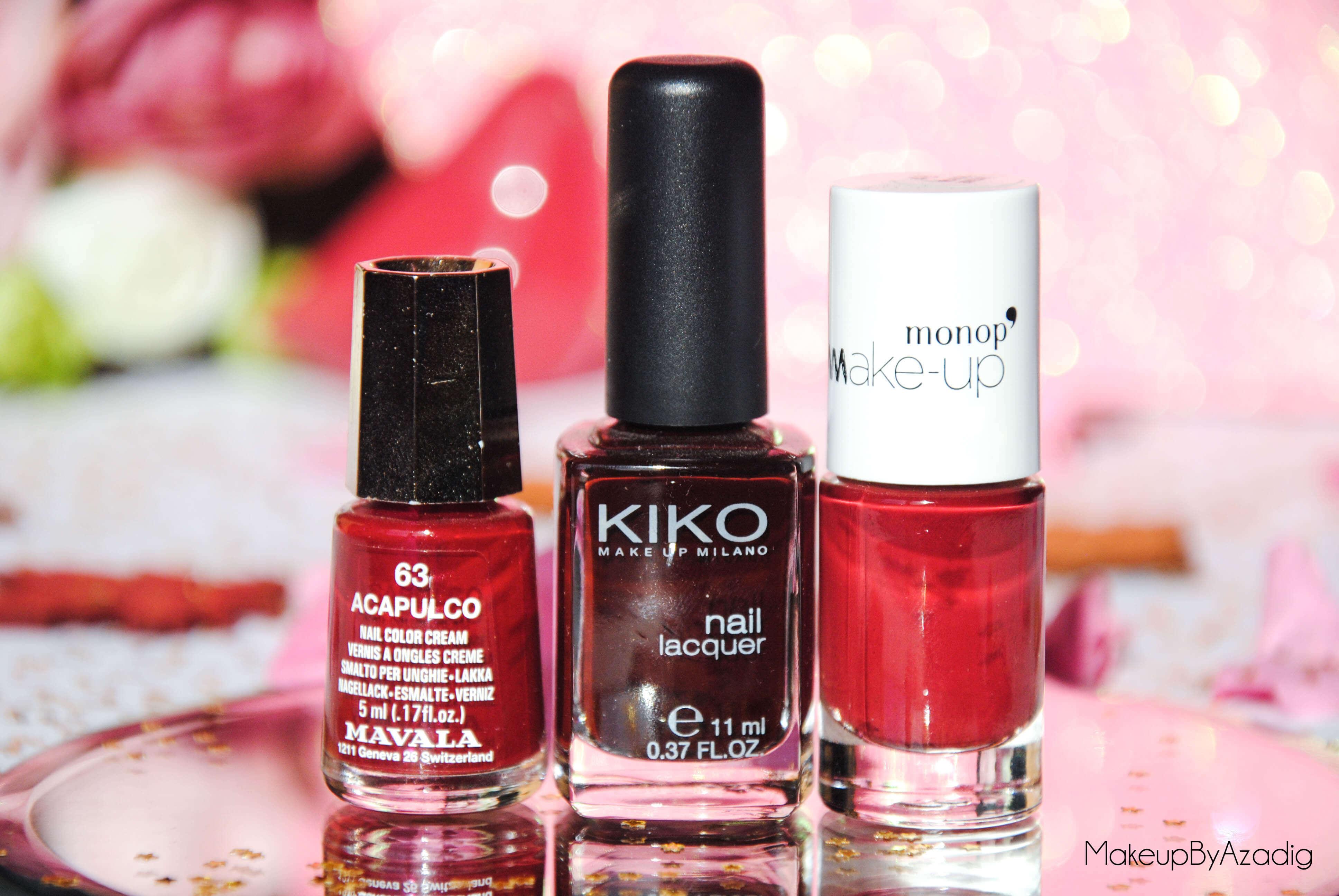 makeupbyazadig-vernis-tendance-automne-nails-autumn-formula-x-monop-makeup-troyes-dijon-paris-sandrea26france-camaieu-opi-kiko-sephora-mavala-essie-red