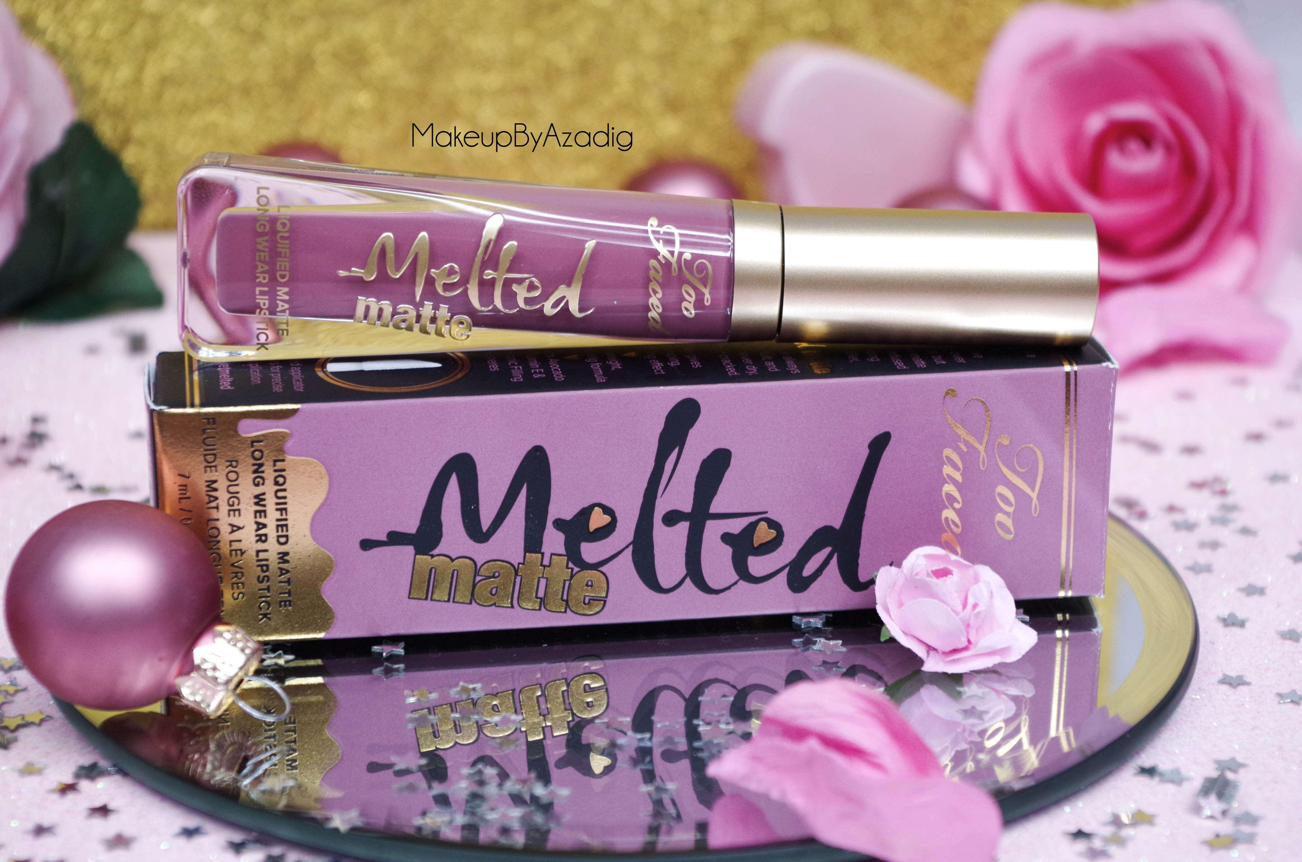 makeupbyazadig-melted-matte-queenb-bendandsnap-dropdeadred-too-faced-rouge-levres-revue-avis-prix-sephora-paris-blog-best