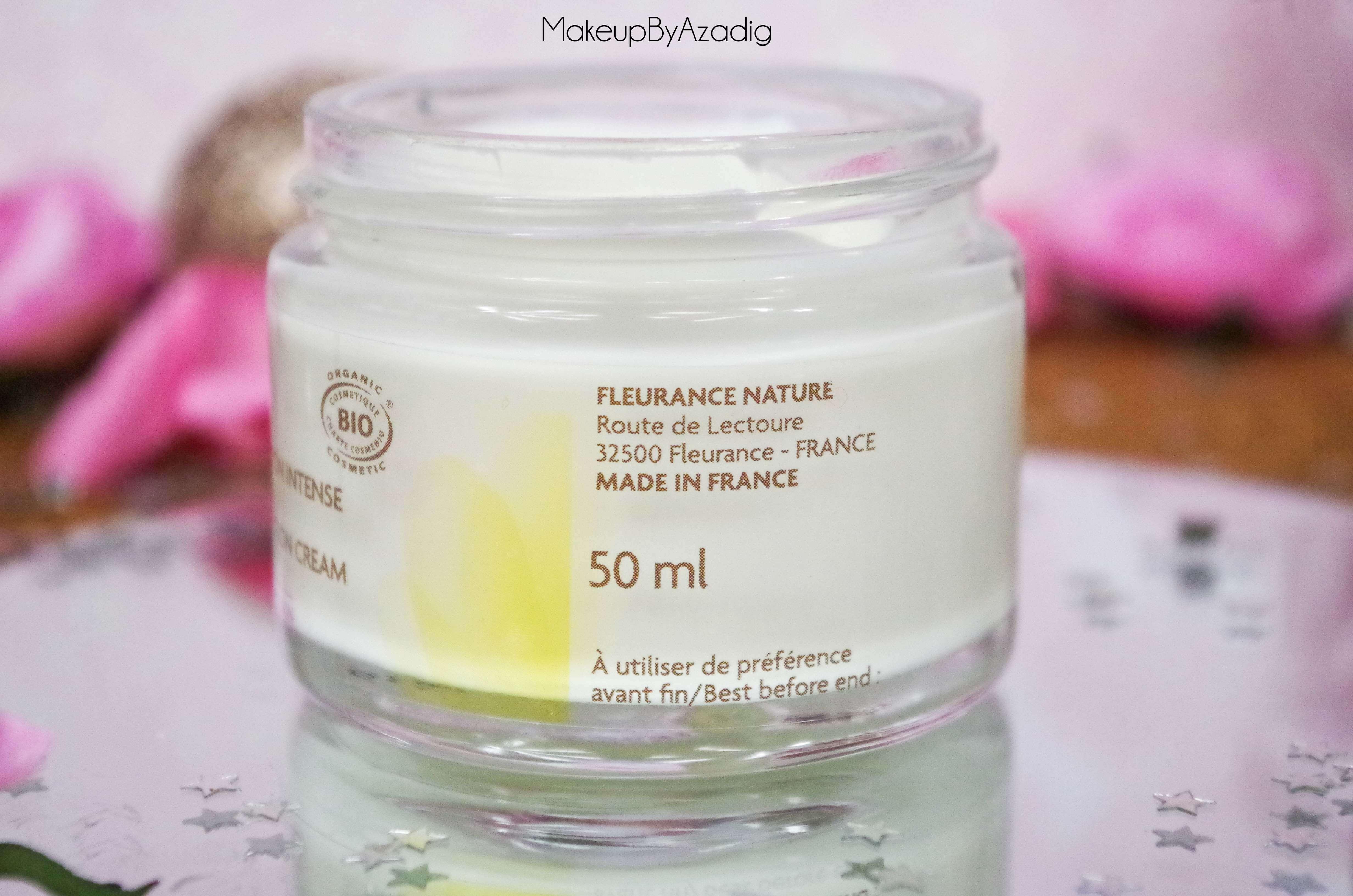 creme-nutrition-intense-serum-nuit-fleur-immortelle-fleurance-nature-makeupbyazadig-revue-prix-avis-made-in-france
