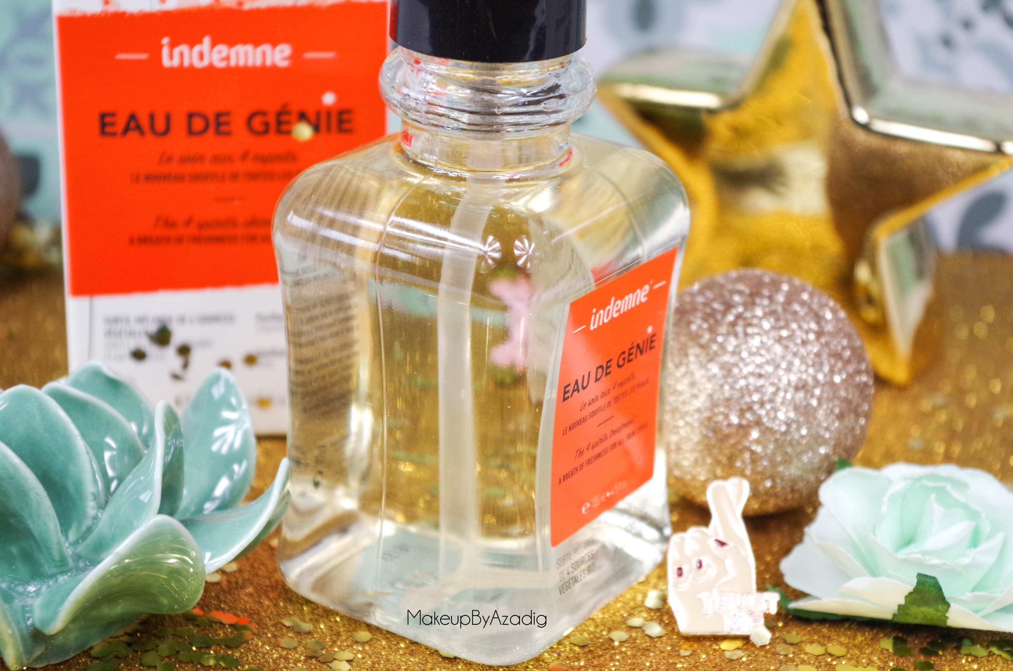 review-lotion-tonique-eau-de-genie-indemne-france-avis-prix-cosmetique-bio-produit-naturel-makeupbyazadig-teinte