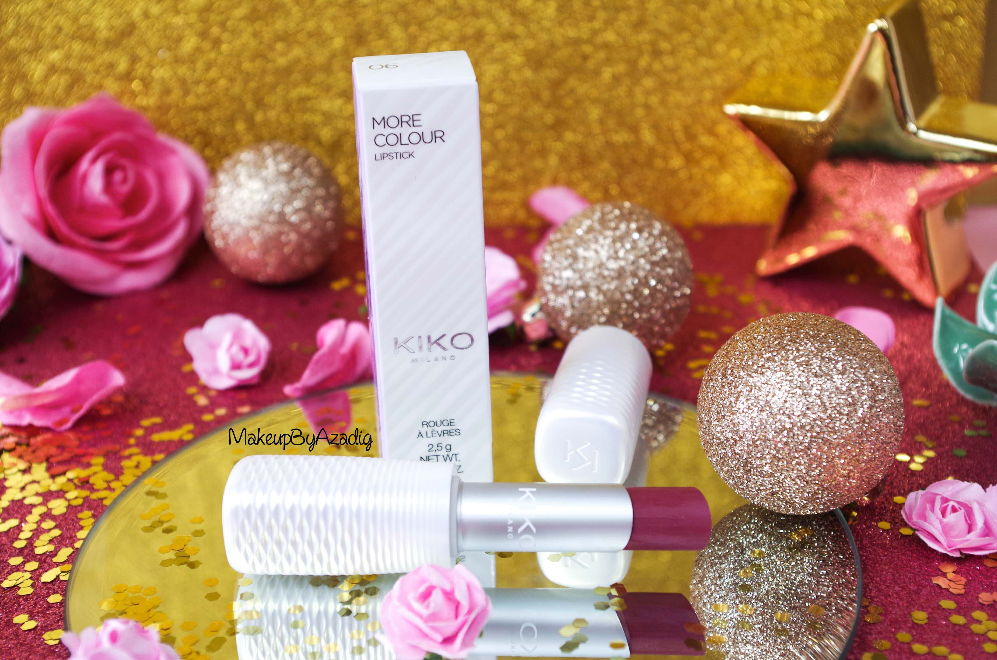 marque-revue-rouge-levres-kiko-cosmetics-more-colour-lipstick-avis-swatch-prix-troyes-blog-review-makeupbyazadig-milano-freedom-mauve