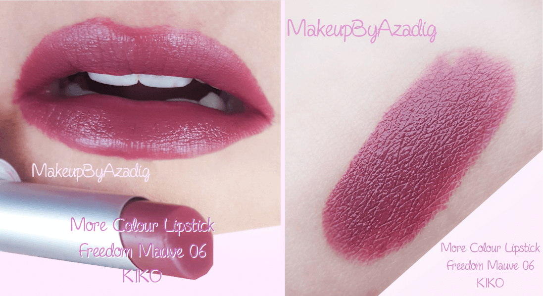 swatches-revue-rouge-levres-kiko-cosmetics-more-colour-lipstick-avis-swatch-prix-troyes-blog-review-makeupbyazadig-milano-freedom-mauve