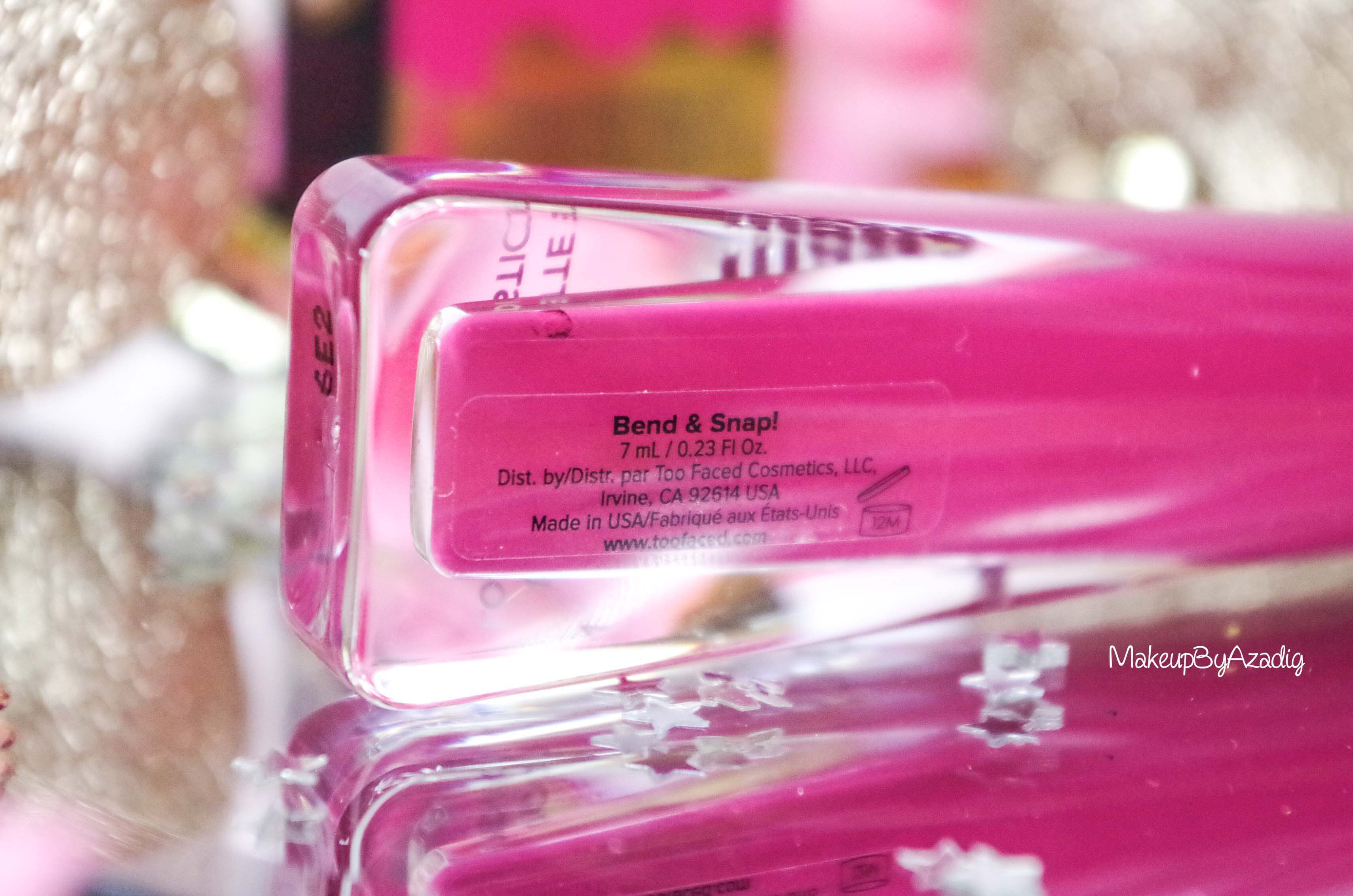 makeupbyazadig-melted-matte-queenb-bendandsnap-influencer-too-faced-rouge-levres-revue-avis-prix-sephora-paris-blog-liquide-nom