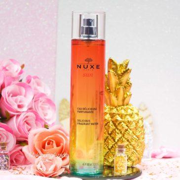 Eau délicieuse parfumante de Nuxe.