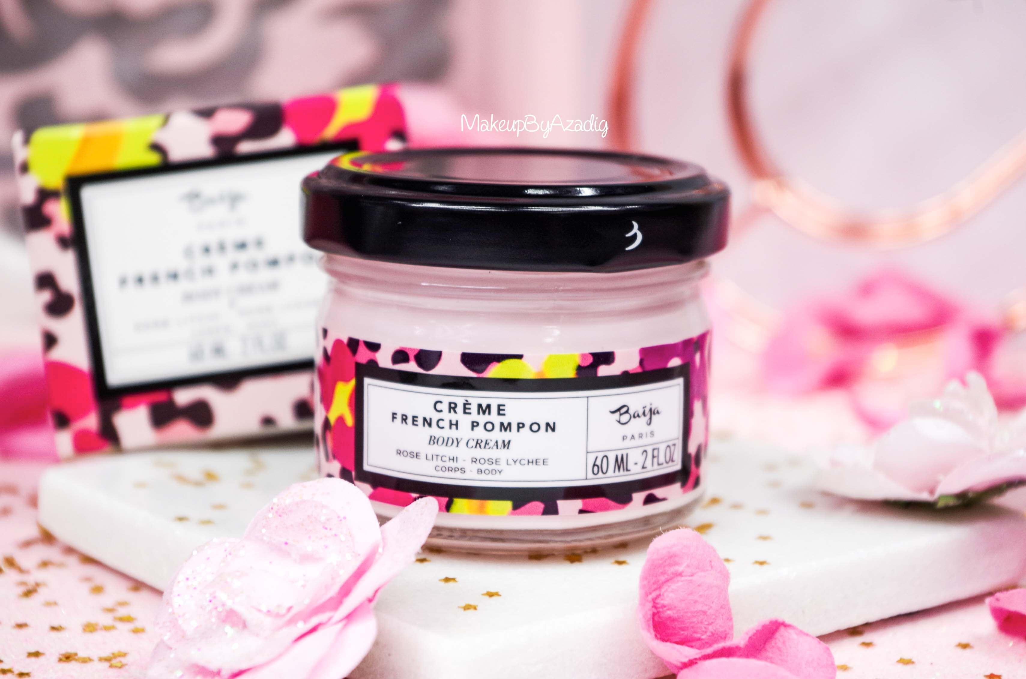 creme-corps-cream-body-french-pompon-baija-rose-litchi-sephora-makeupbyazadig-revue-prix-avis-pot