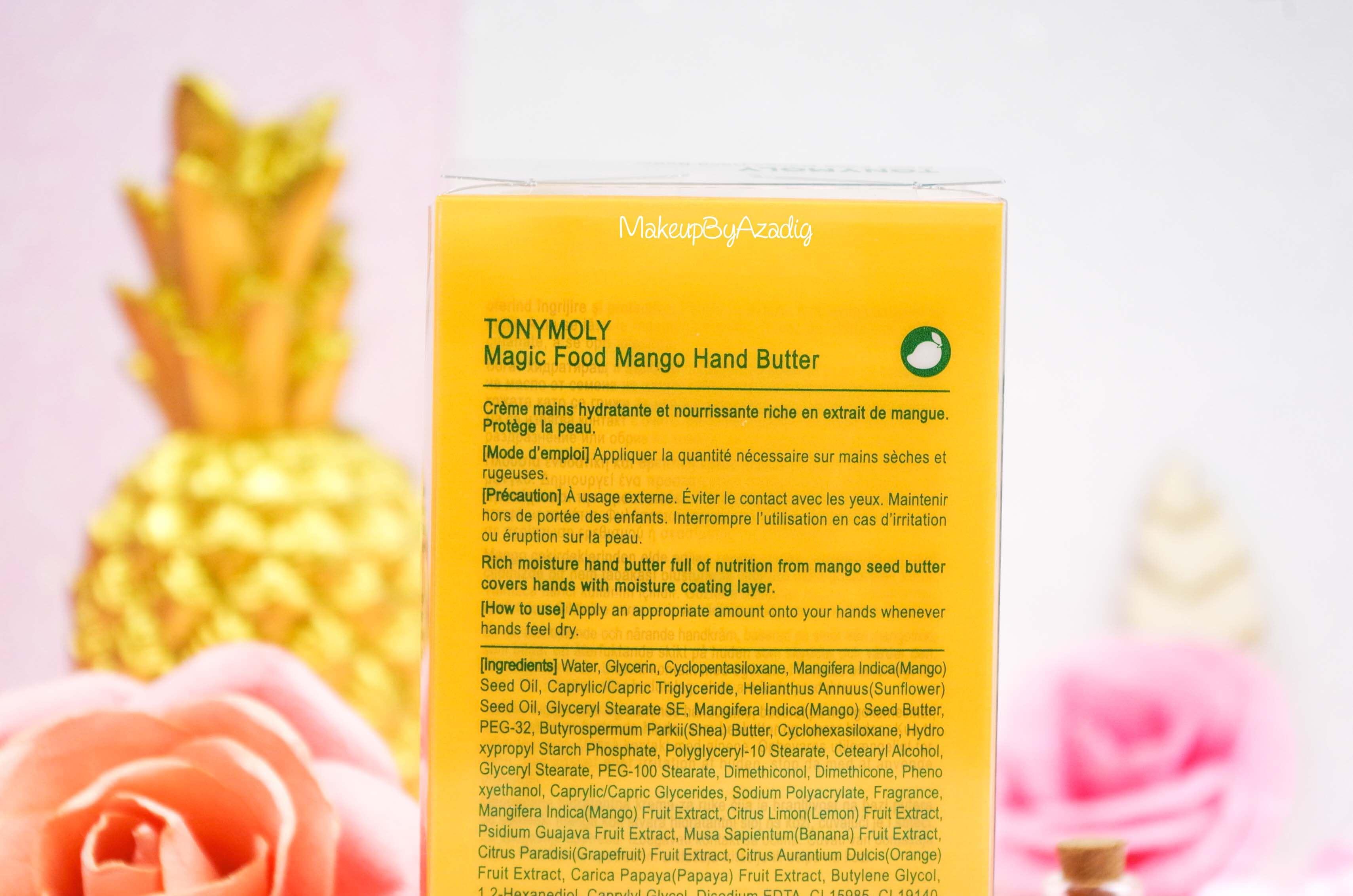 creme-mains-mango-hand-butter-tonymoly-sephora-france-cocooning-revue-avis-prix-makeupbyazadig-influencer-ingredients
