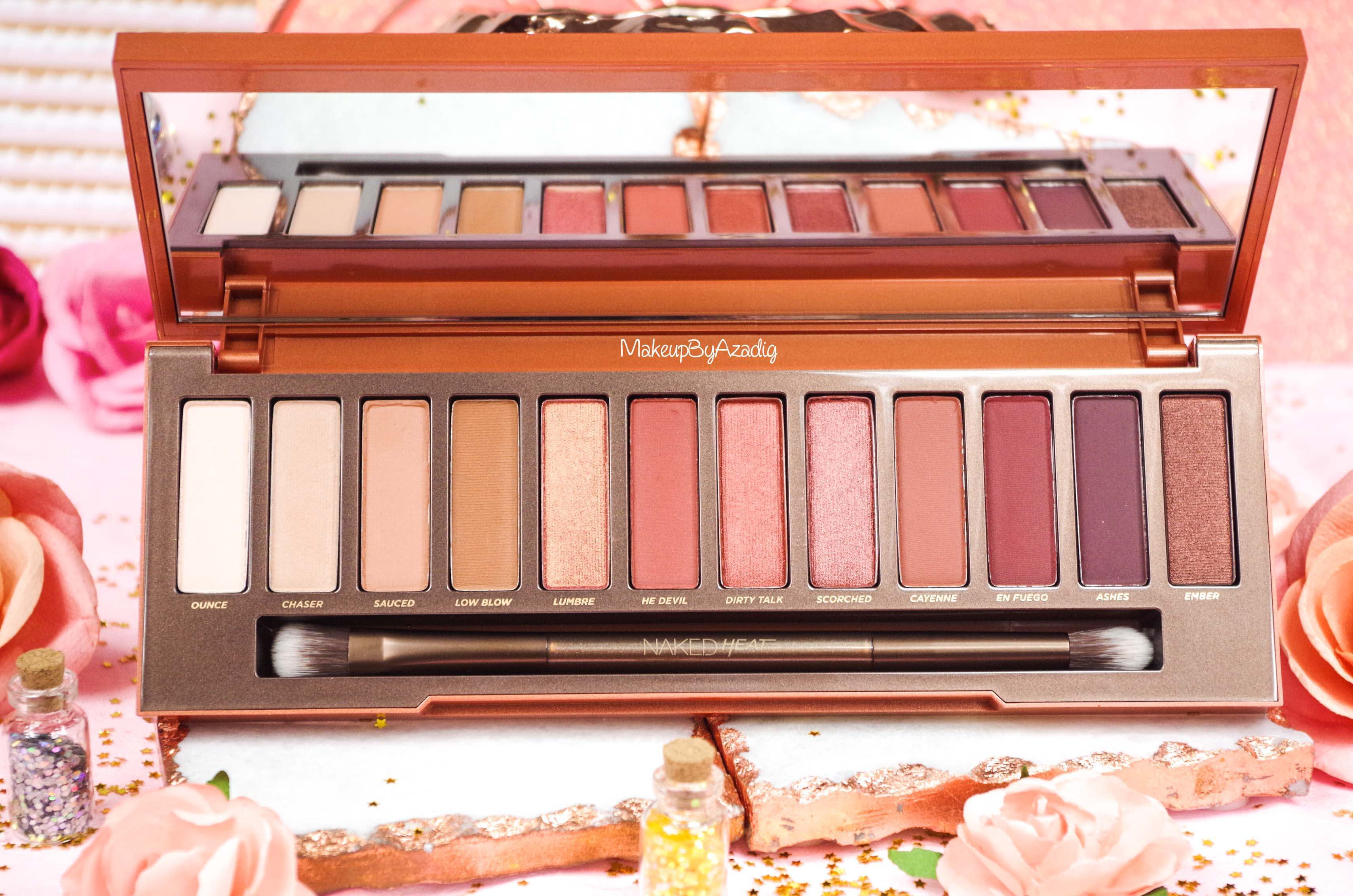 revue-review-nouvelle-palette-naked-heat-urban-decay-sephora-avis-prix-france-makeupbyazadig-swatch-lumbre