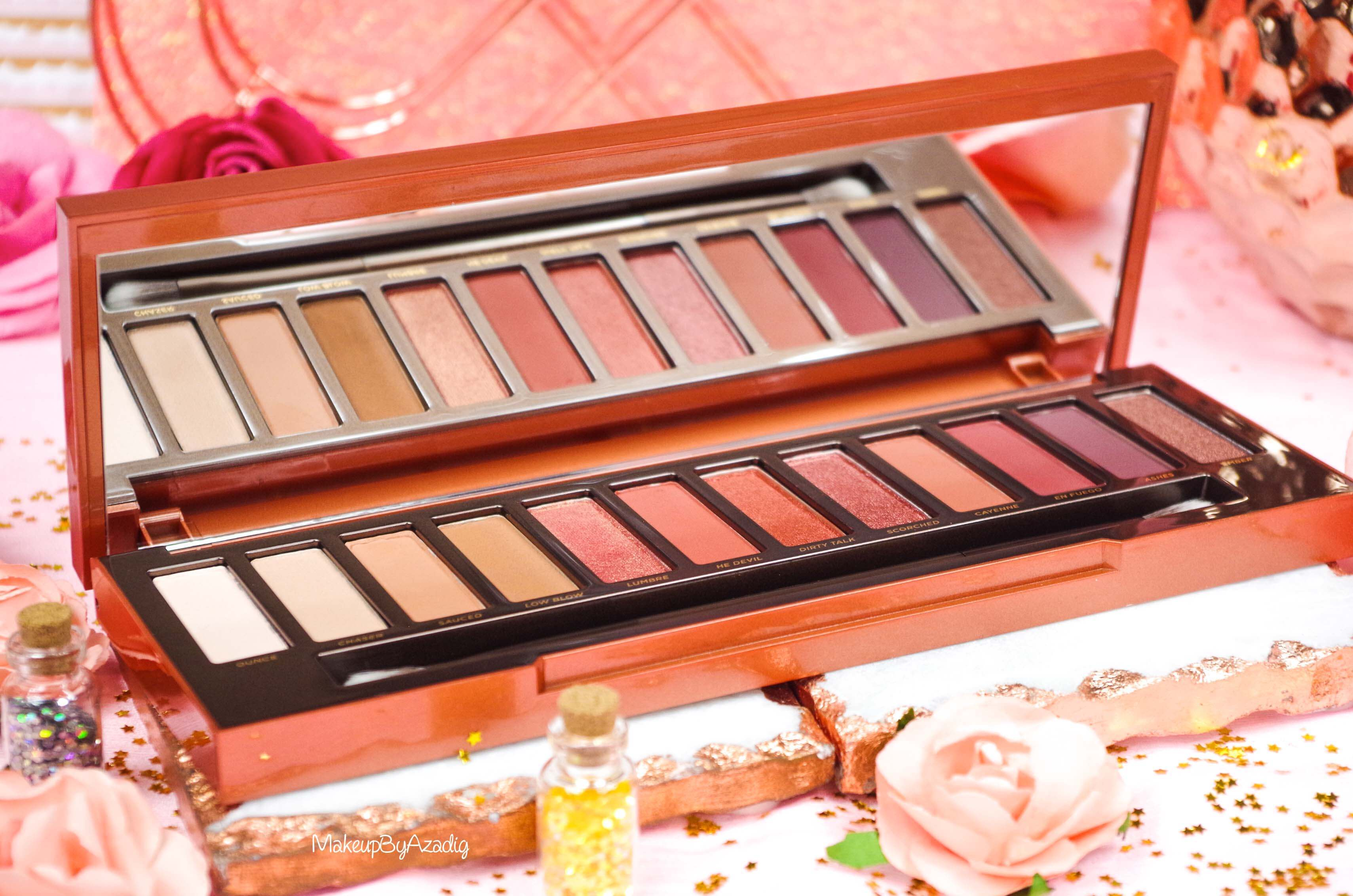 revue-review-nouvelle-palette-naked-heat-urban-decay-sephora-avis-prix-france-makeupbyazadig-swatch-miror