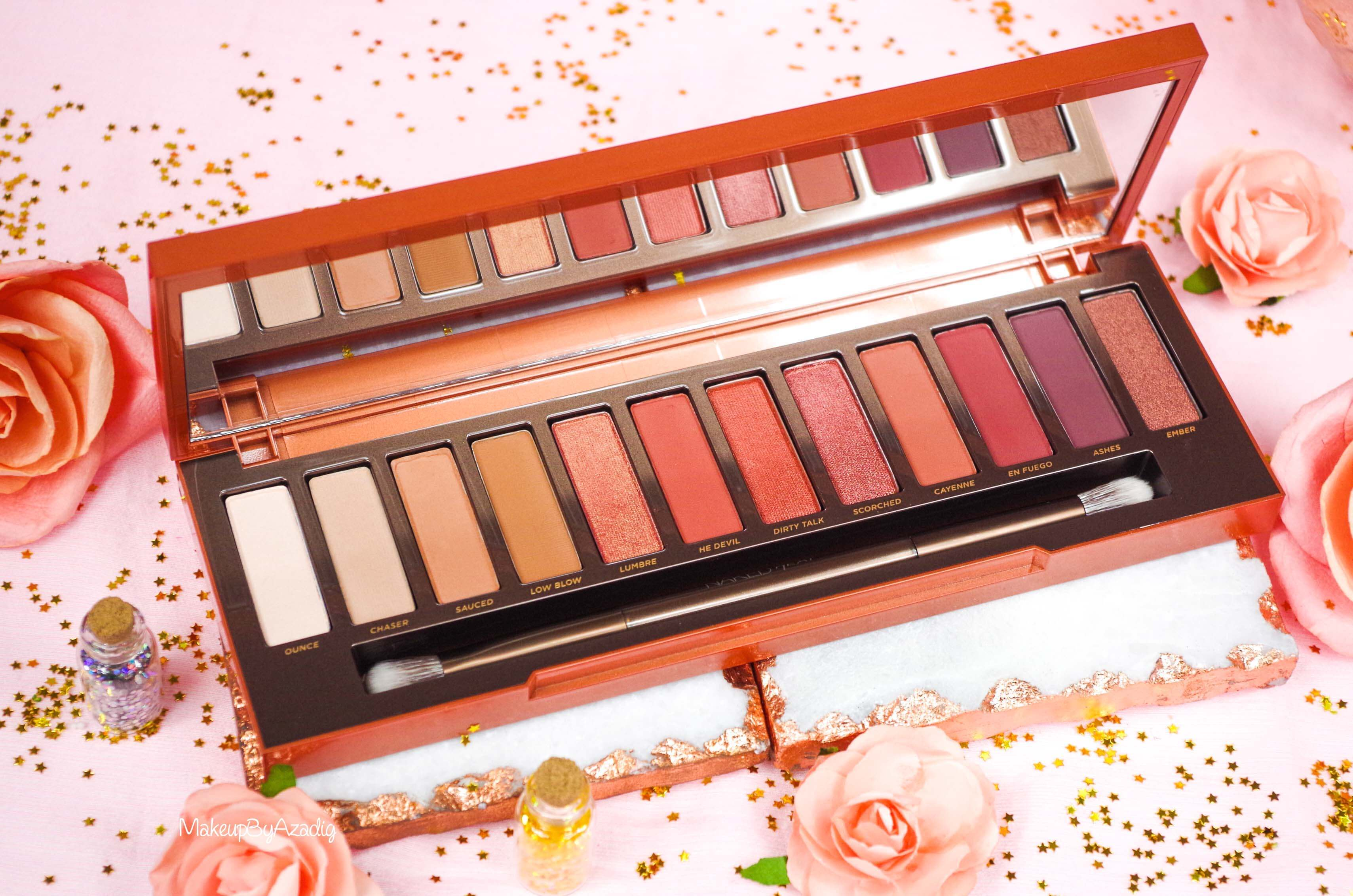 revue-review-nouvelle-palette-naked-heat-urban-decay-sephora-avis-prix-france-makeupbyazadig-swatch-paris