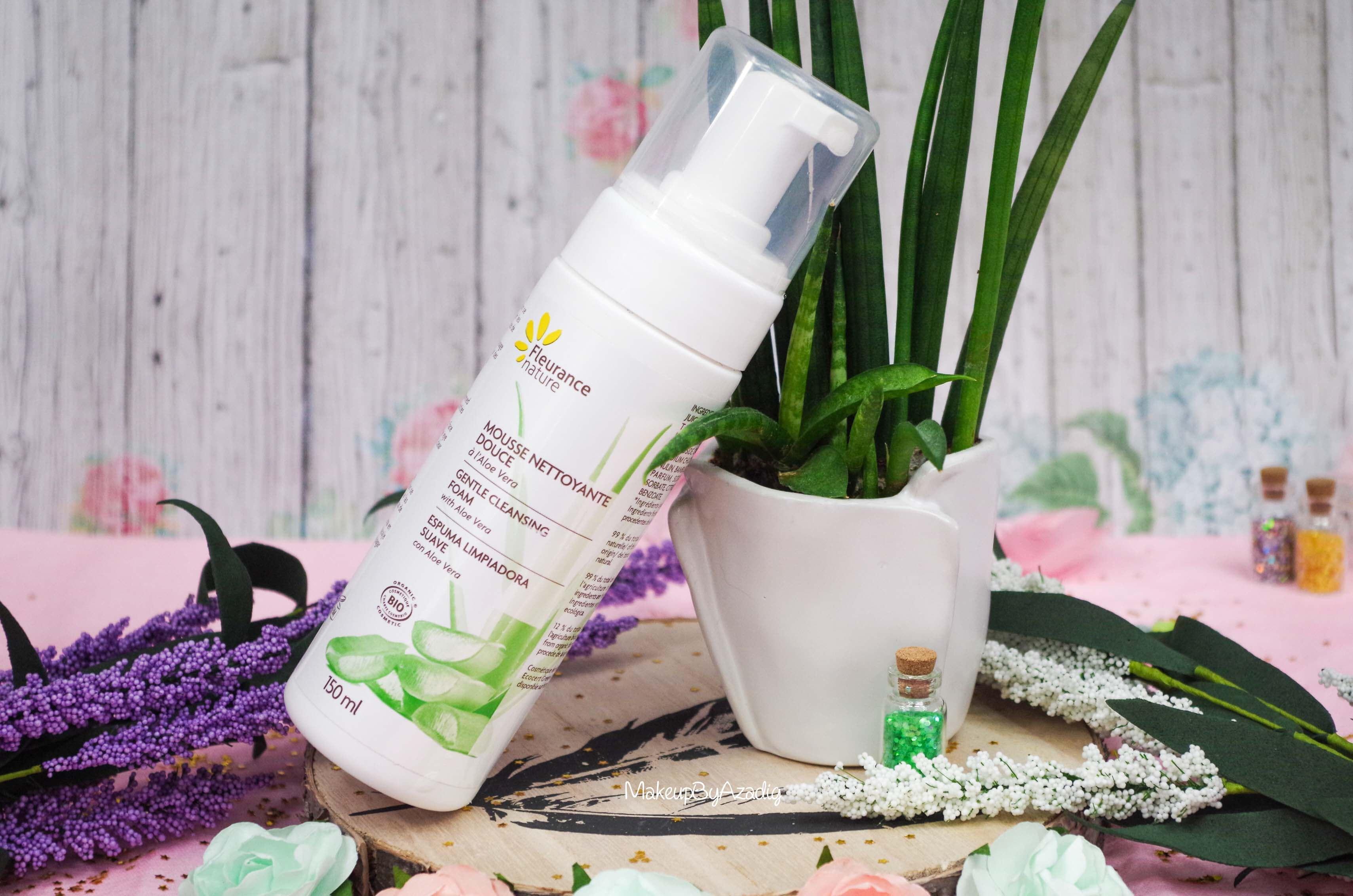 aloe-revue-review-mousse-nettoyante-douce-fleurance-nature-partenariat-soin-bio-makeupbyazadig-avis-prix-influencer