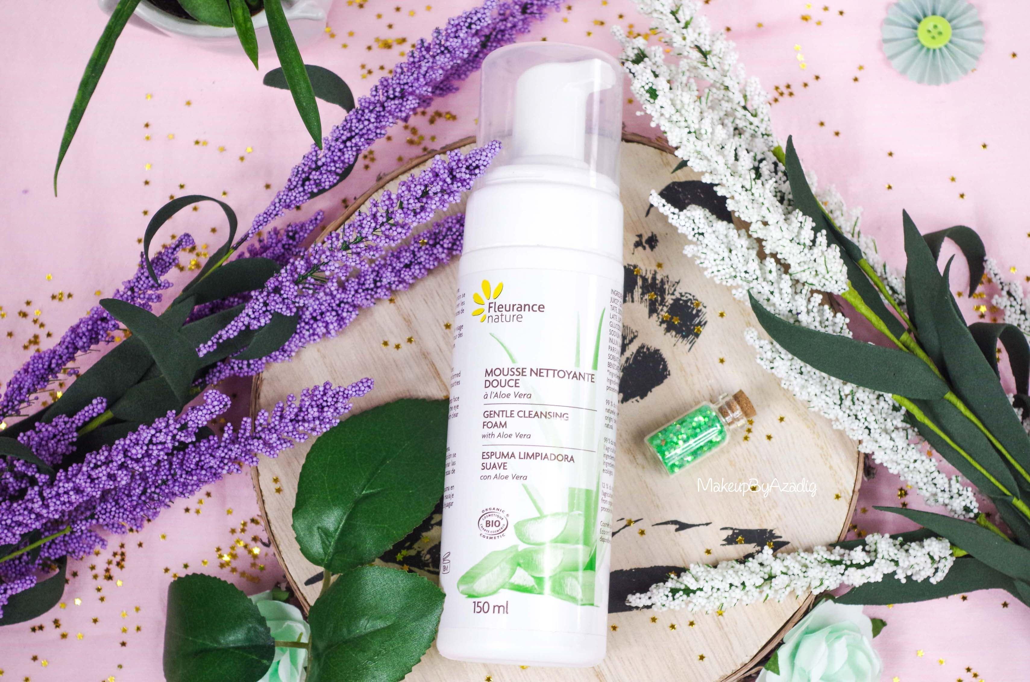 parapharmacie-revue-review-mousse-nettoyante-douce-fleurance-nature-partenariat-soin-bio-makeupbyazadig-avis-prix-influencer