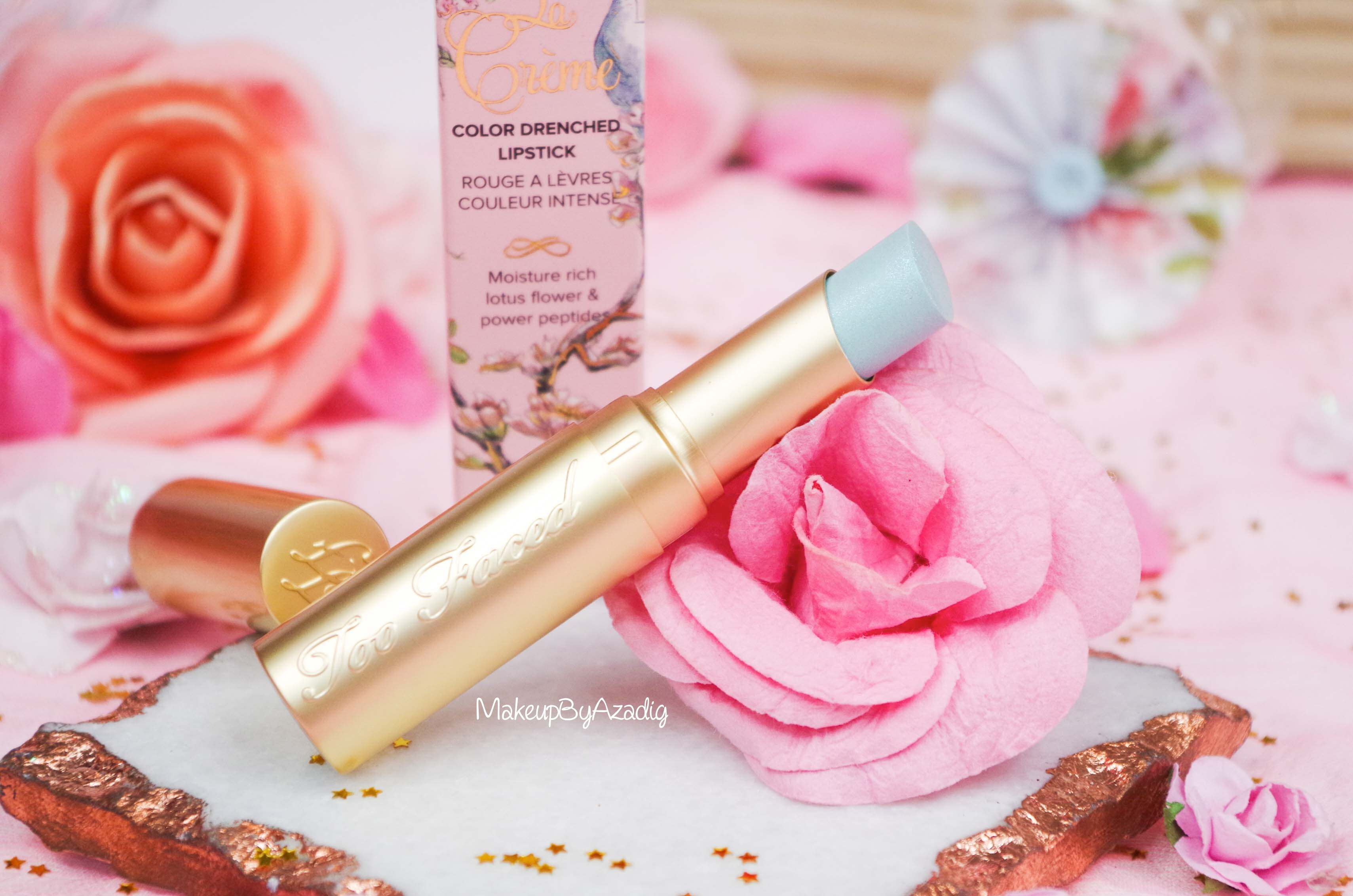 rouge-levres-creme-too-faced-unicorn-tears-magique-makeupbyazadig-swatch-avis-prix-revue-sephora-influencer