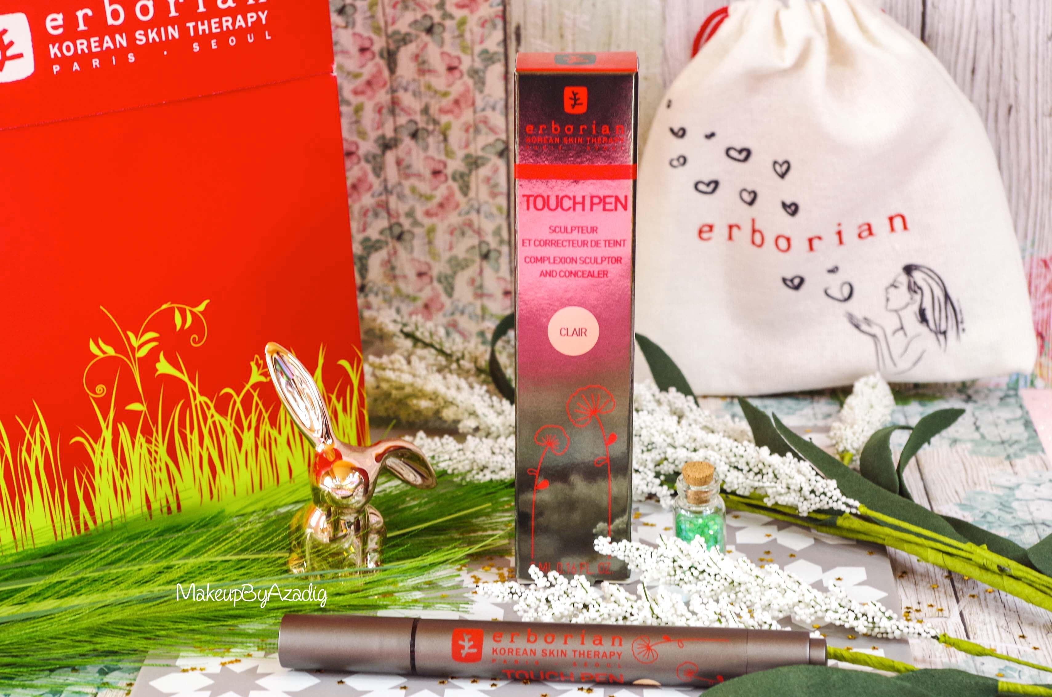 revue-nouveaute-erborian-touch-pen-zones-de-lumiere-visage-makeupbyazadig-korean