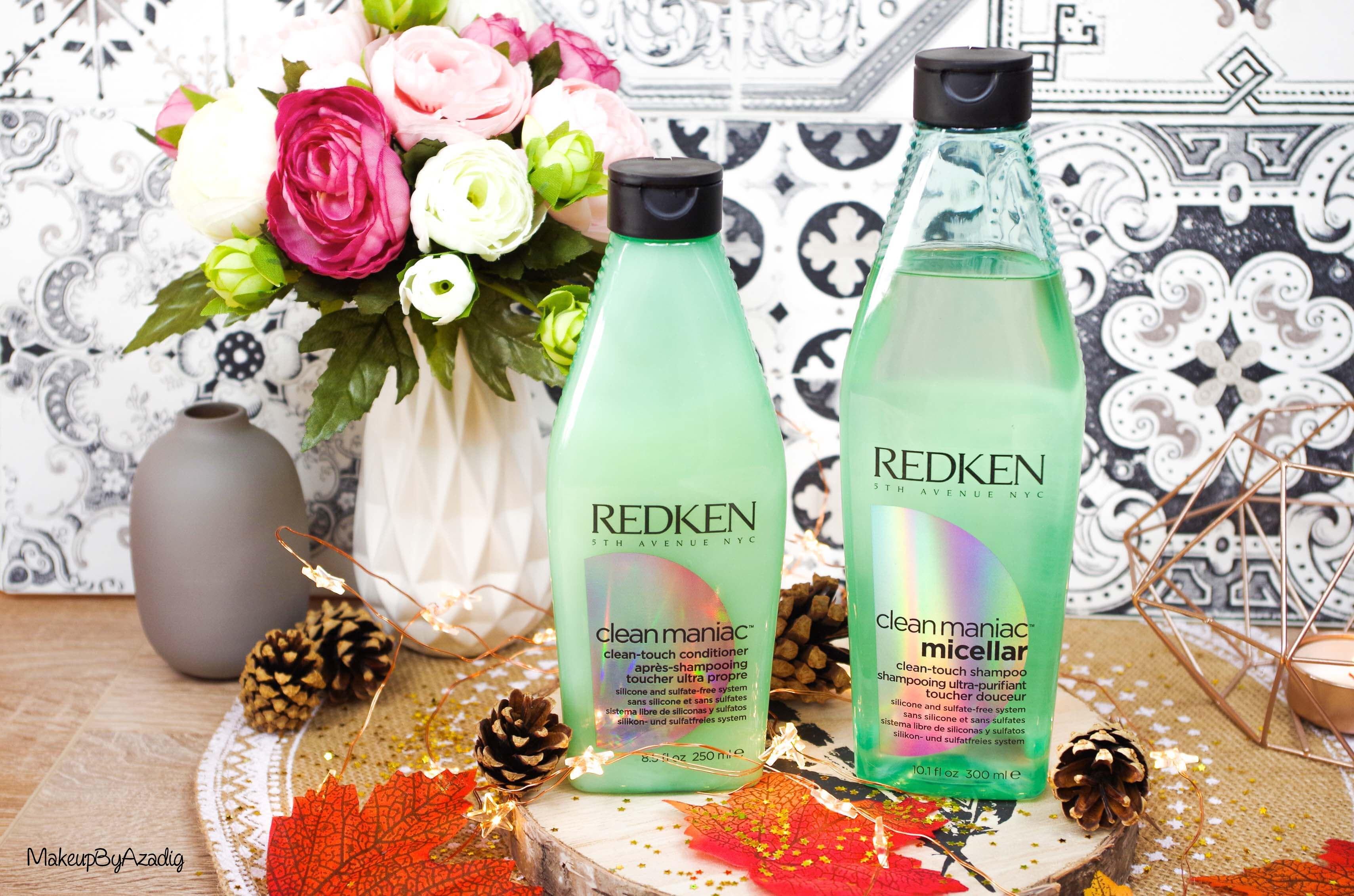 revue-shampooing-conditioner-clean-maniac-redken-programme-detox-anti-pollution-makeupbyazadig-cleanhair-sans-silicone-sulfate-prix