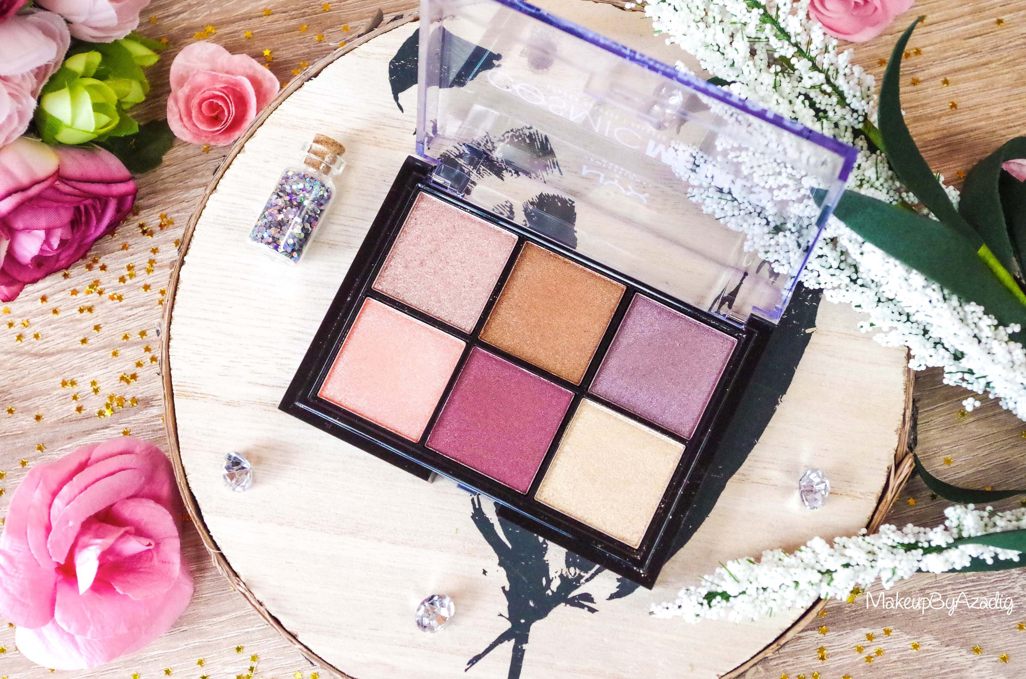 revue-palette-fards-paupieres-cosmic-metals-nyx-cosmetics-pas-cher-meilleure-makeupbyazadig-influencer-prix