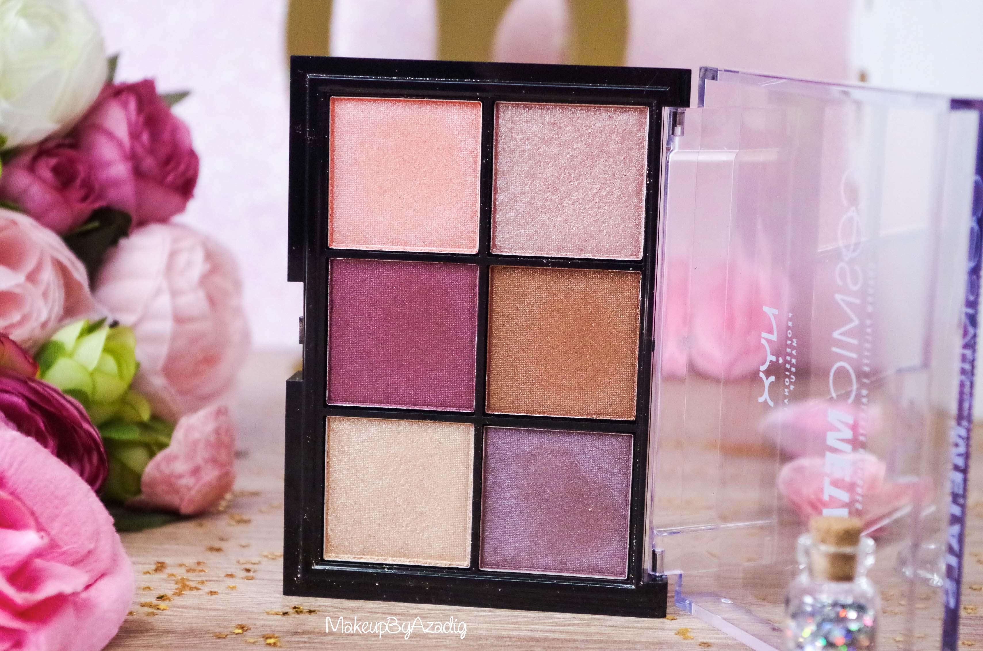 revue-palette-fards-paupieres-cosmic-metals-nyx-cosmetics-pas-cher-meilleure-makeupbyazadig-influencer-top