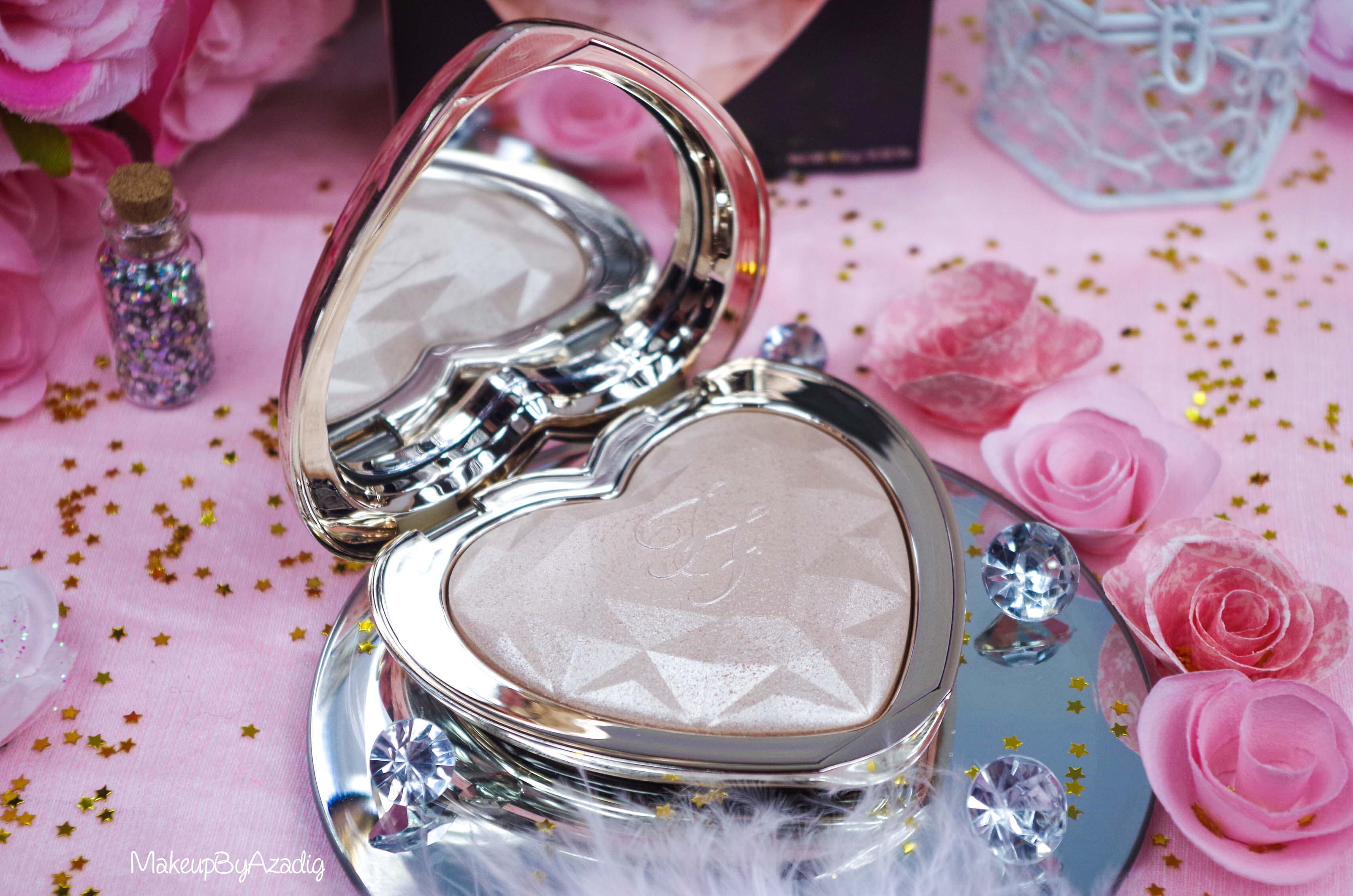 revue-review-highlighter-love-light-too-faced-coeur-avis-prix-sephora-makeupbyazadig-blinded