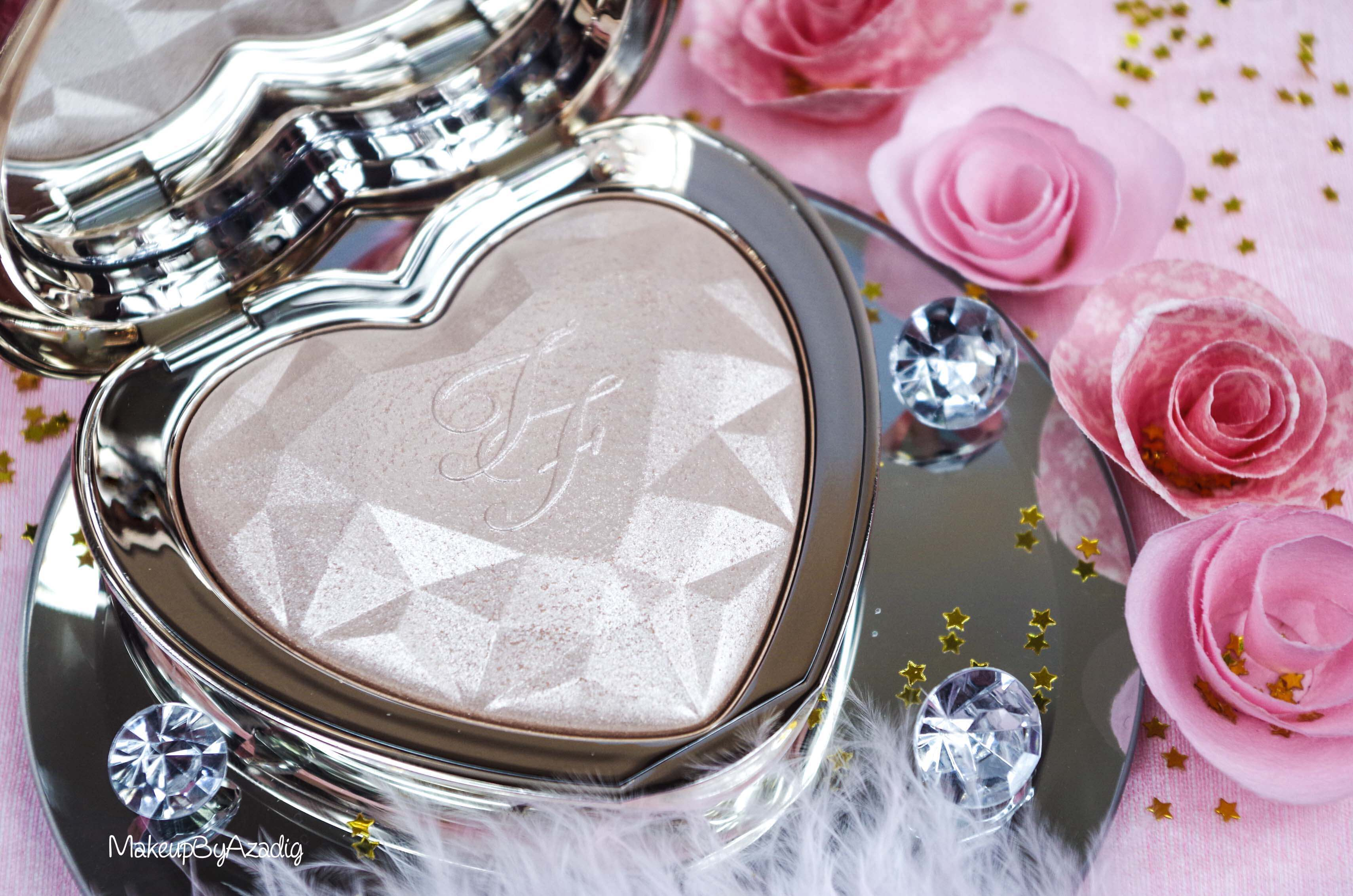 revue-review-highlighter-love-light-too-faced-coeur-avis-prix-sephora-makeupbyazadig-champagne