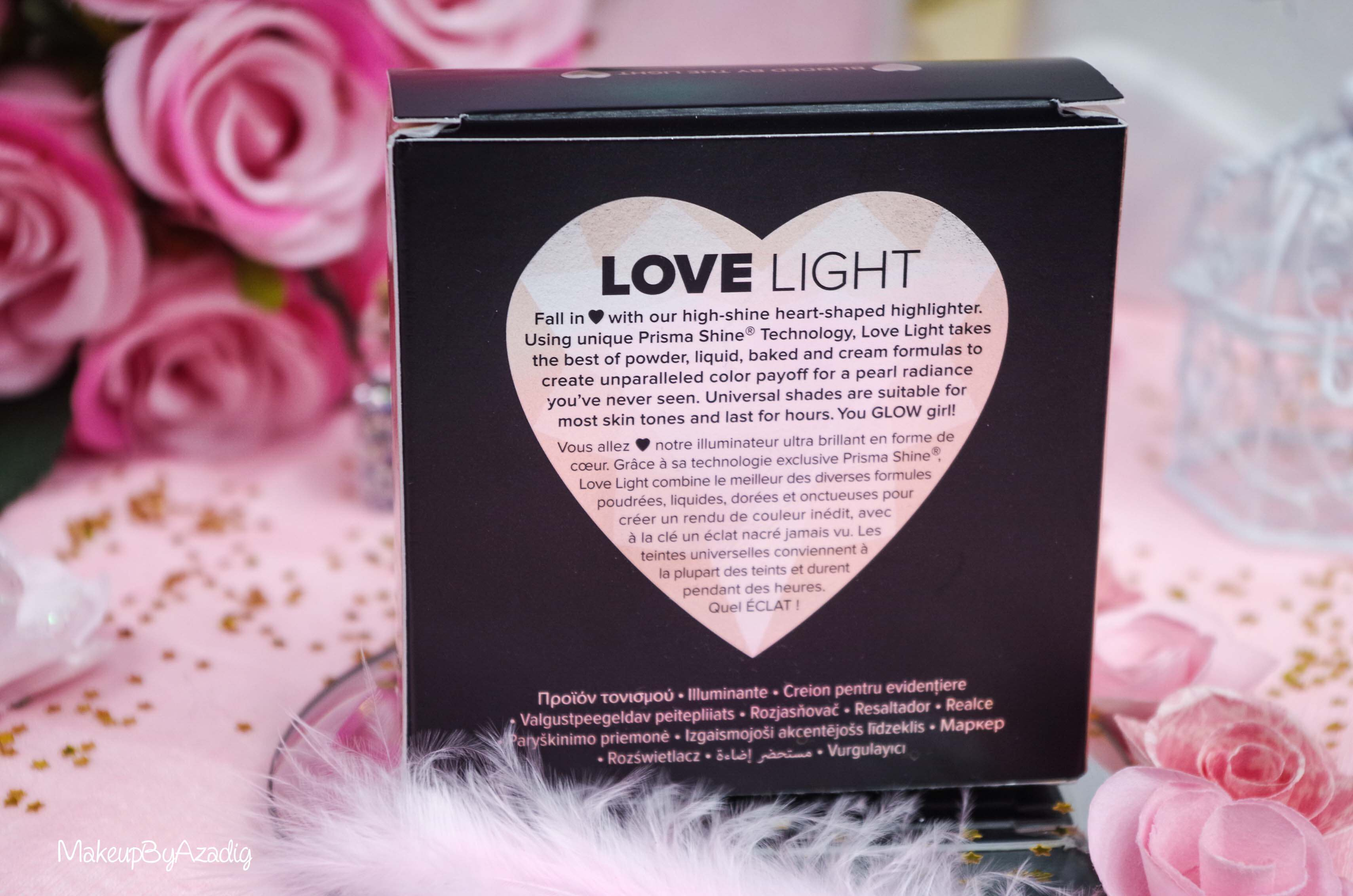 revue-review-highlighter-love-light-too-faced-coeur-avis-prix-sephora-makeupbyazadig-diamond