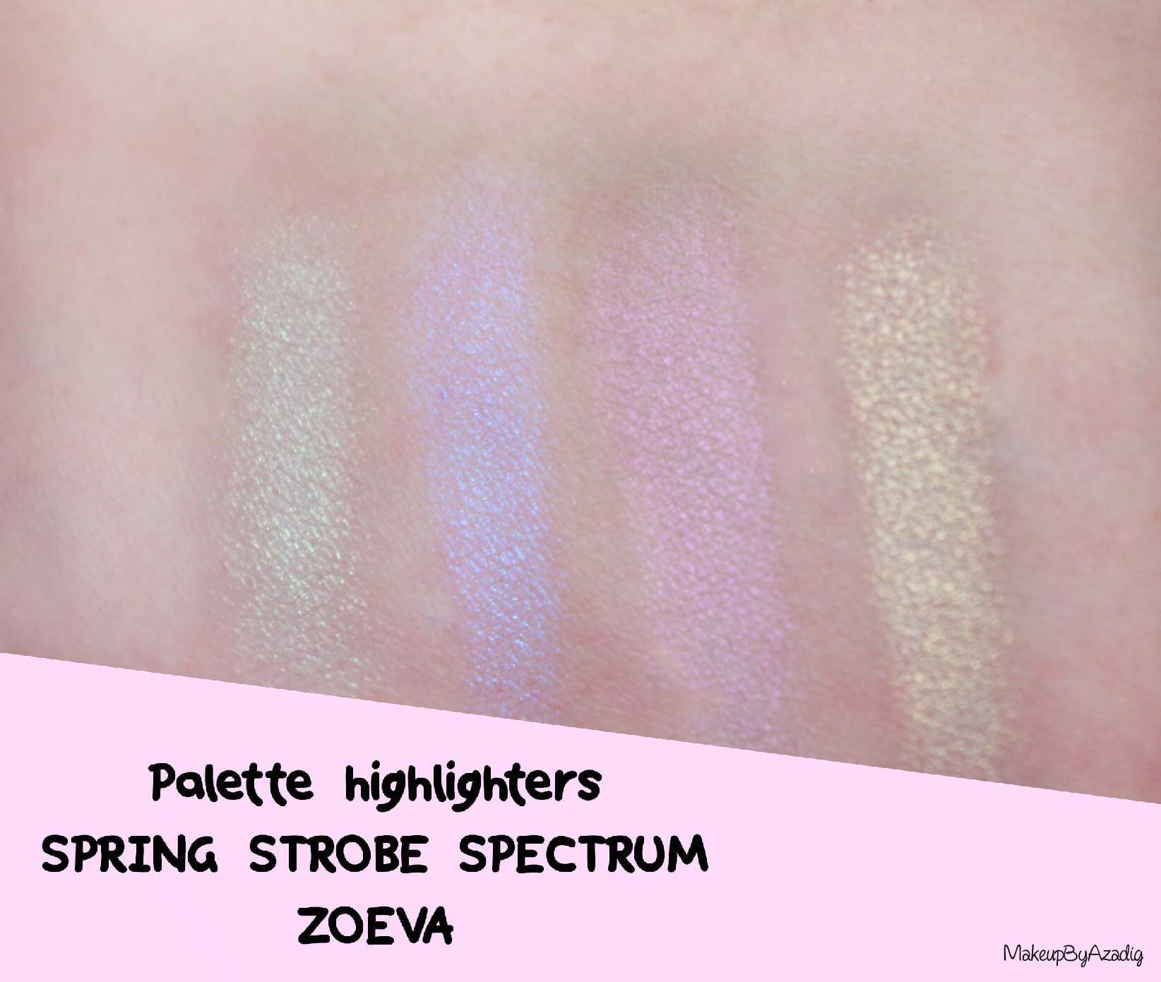 palette-highlighter-enlumineur-pas-cher-spring-strobe-spectrum-zoeva-sephora-arcenciel-licorne-makeupbyazadig-revue-avis-prix-swatches