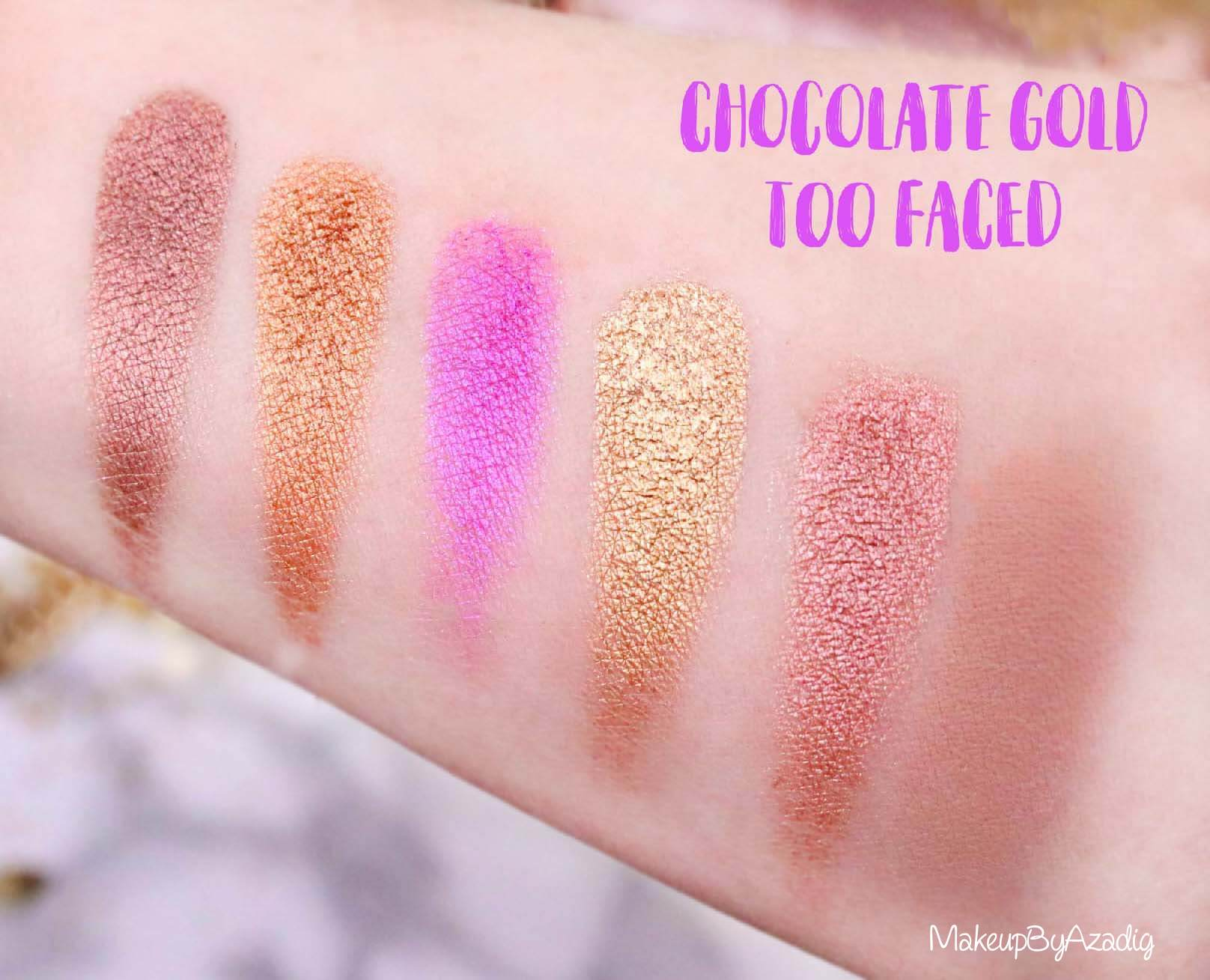 metallise-revue-palette-too-faced-chocolate-gold-review-swatch-swatches-avis-prix-makeupbyazadig-influencer-miniature-2