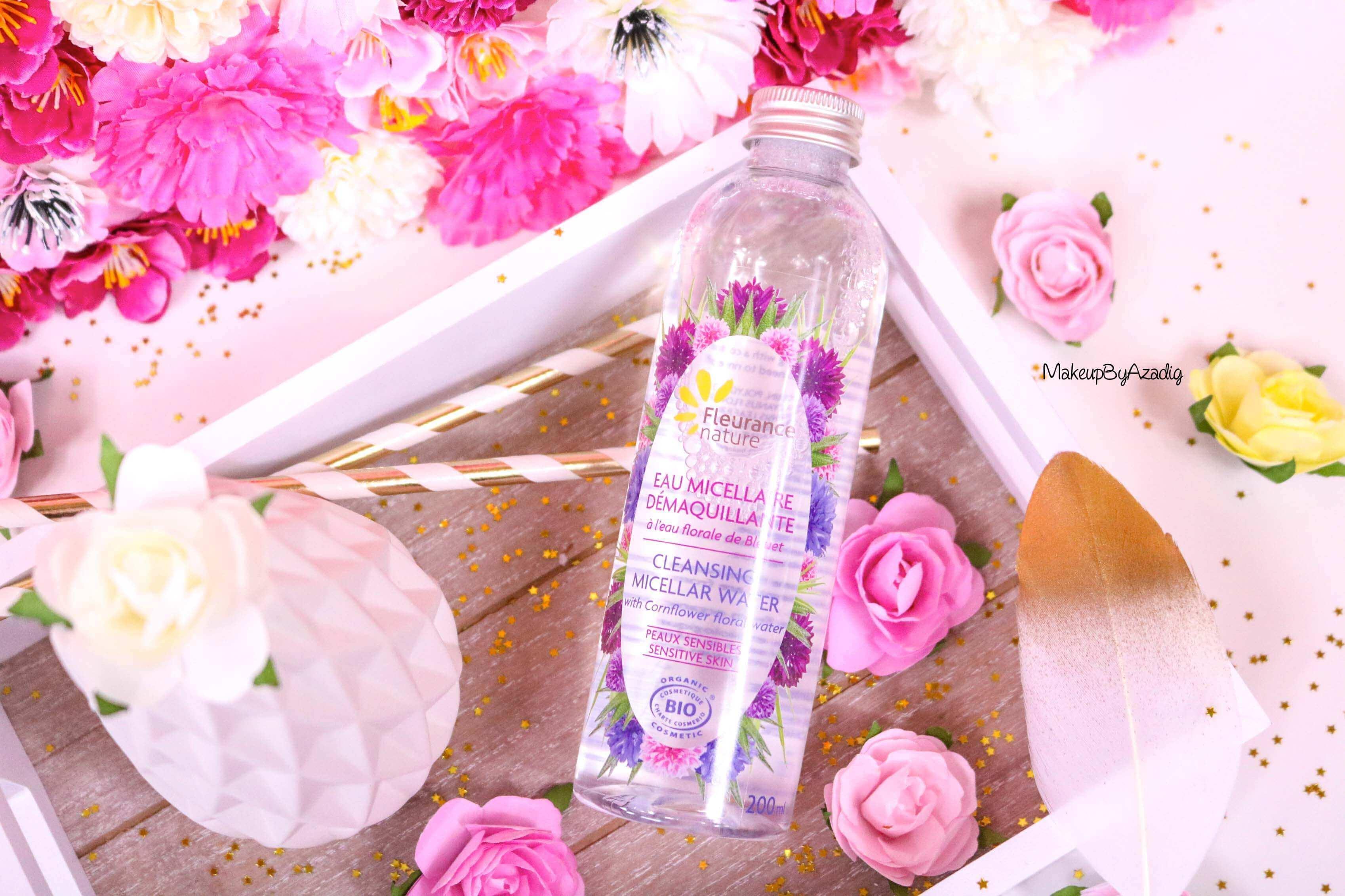 revue-eau-micellaire-peau-sensible-cosmetique-bio-fleurance-nature-makeupbyazadig-florale-bleuet-prix-avis-cleansing