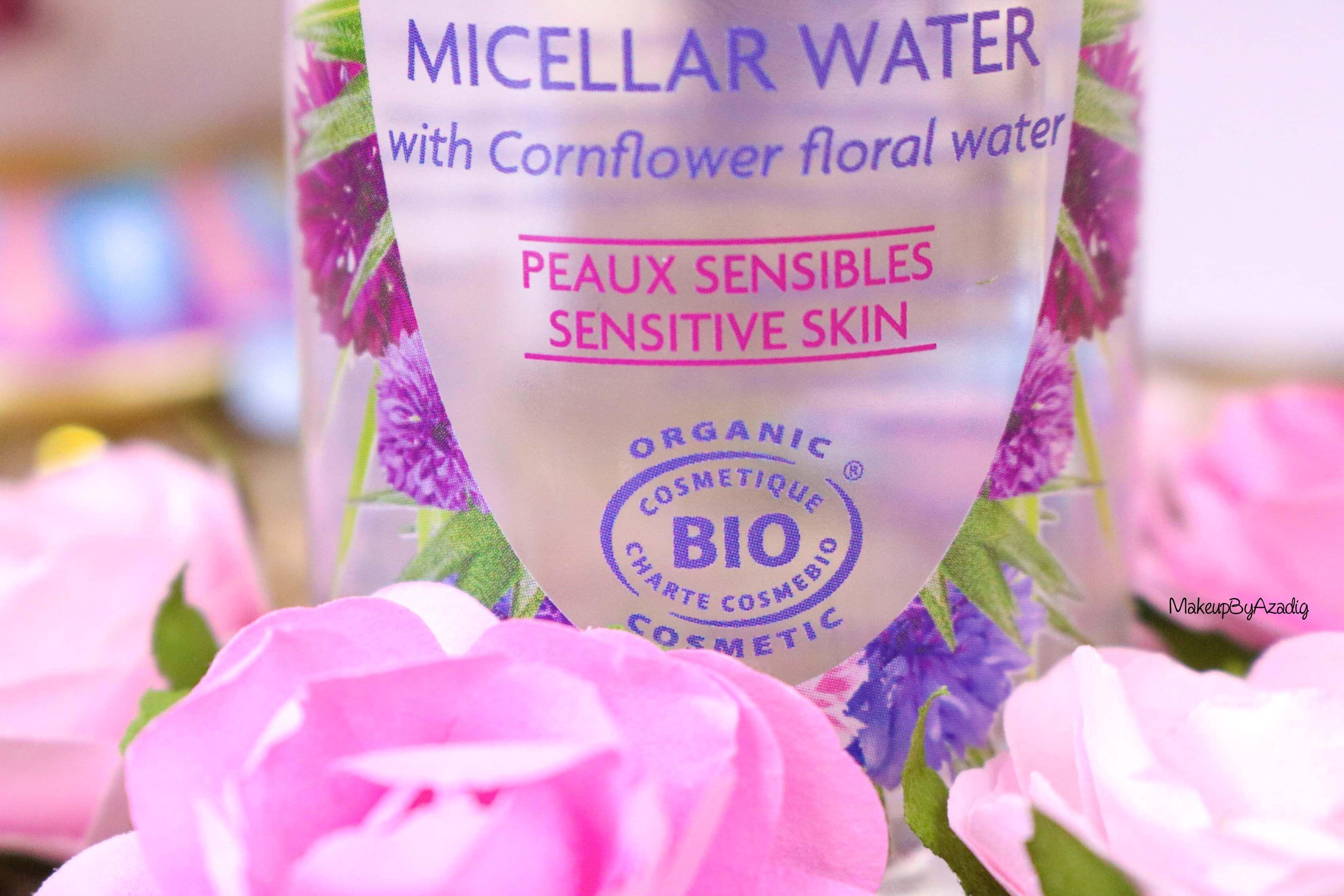 revue-eau-micellaire-peau-sensible-cosmetique-bio-fleurance-nature-makeupbyazadig-florale-bleuet-prix-avis-organic