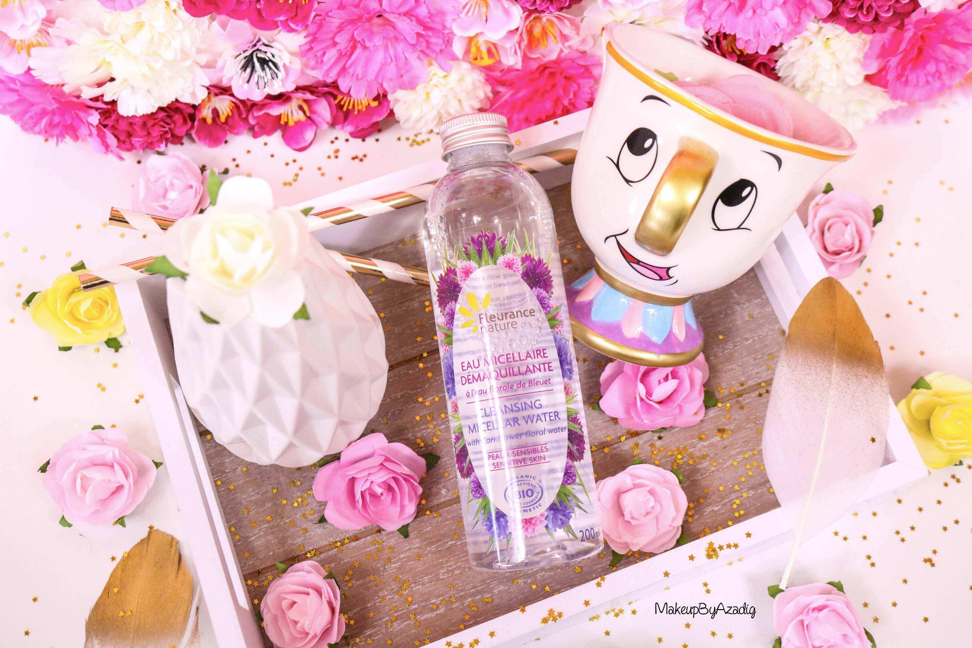 revue-eau-micellaire-peau-sensible-cosmetique-bio-fleurance-nature-makeupbyazadig-florale-bleuet-prix-avis-zip