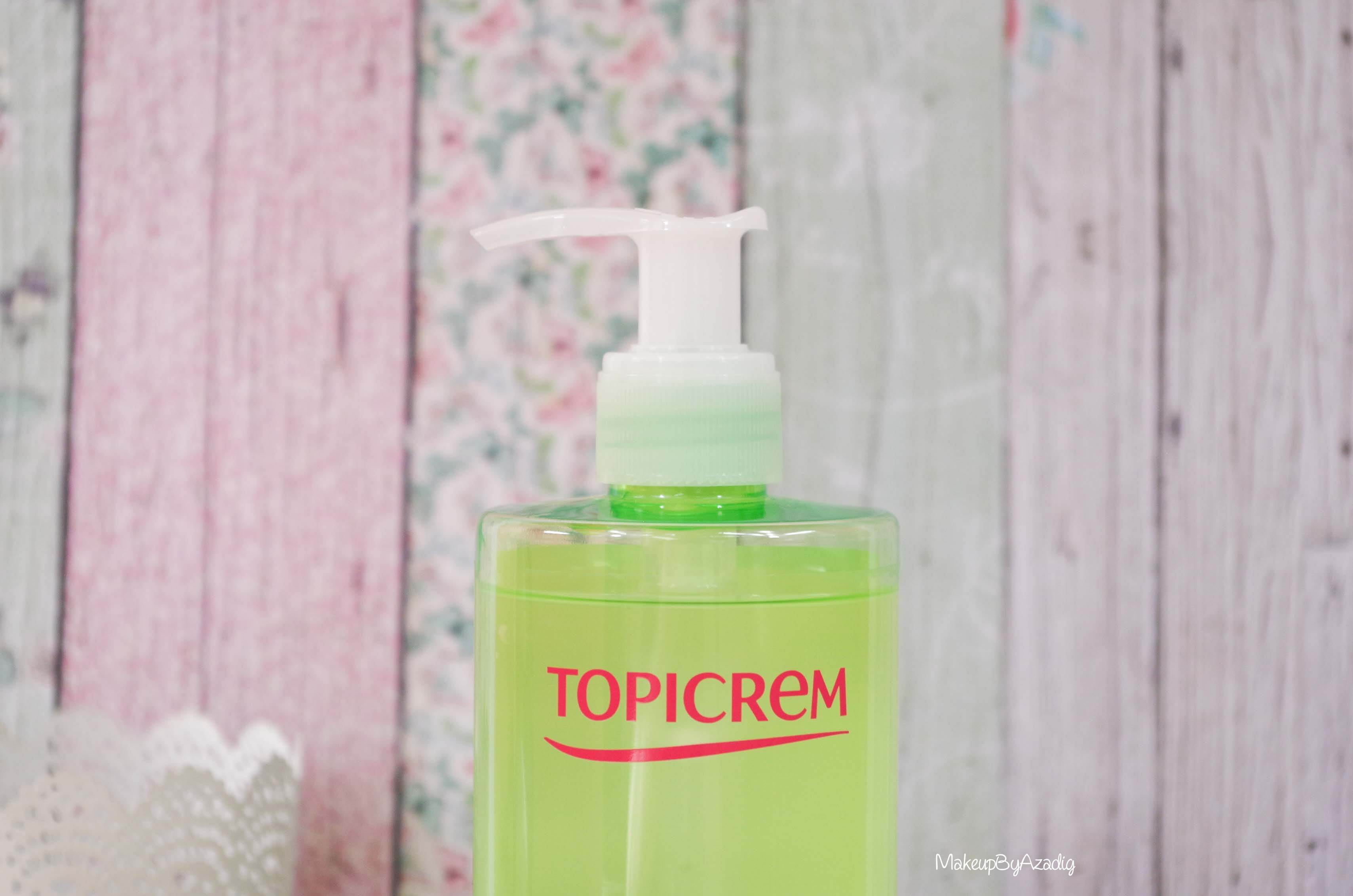 revue-gel-nettoyant-purifiant-demaquillage-visage-topicrem-makeupbyazadig-avis-prix-pas-cher-pompe