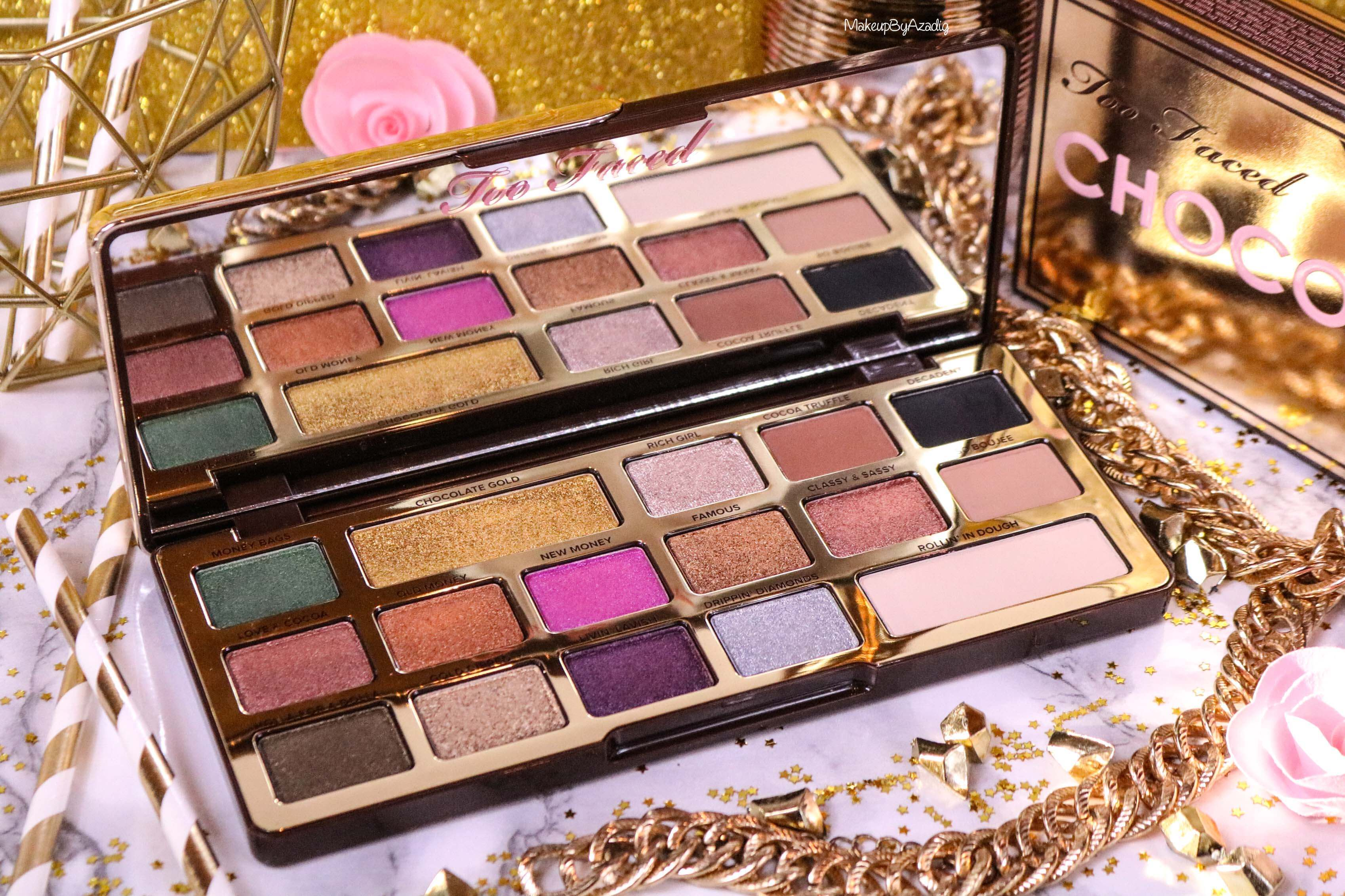 revue-palette-too-faced-chocolate-gold-review-swatch-swatches-avis-prix-makeupbyazadig-influencer-beautiful
