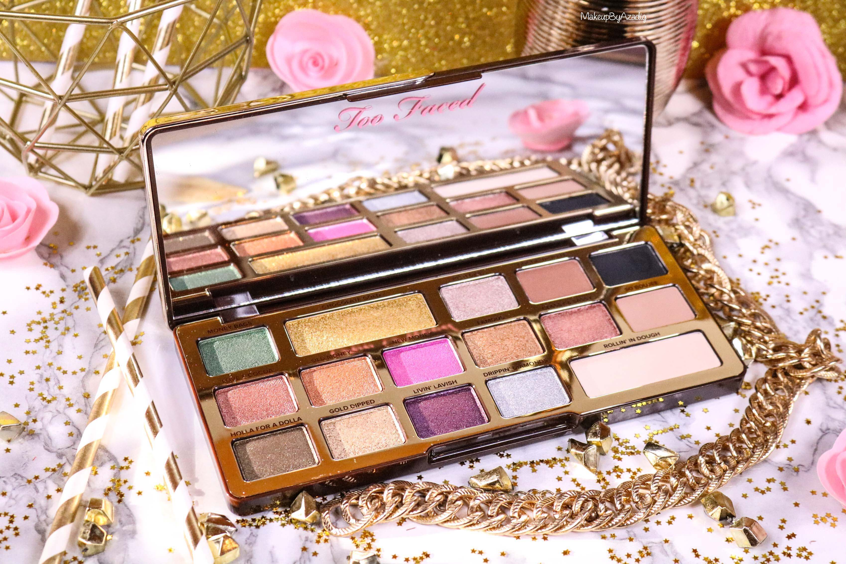 revue-palette-too-faced-chocolate-gold-review-swatch-swatches-avis-prix-makeupbyazadig-influencer-colors