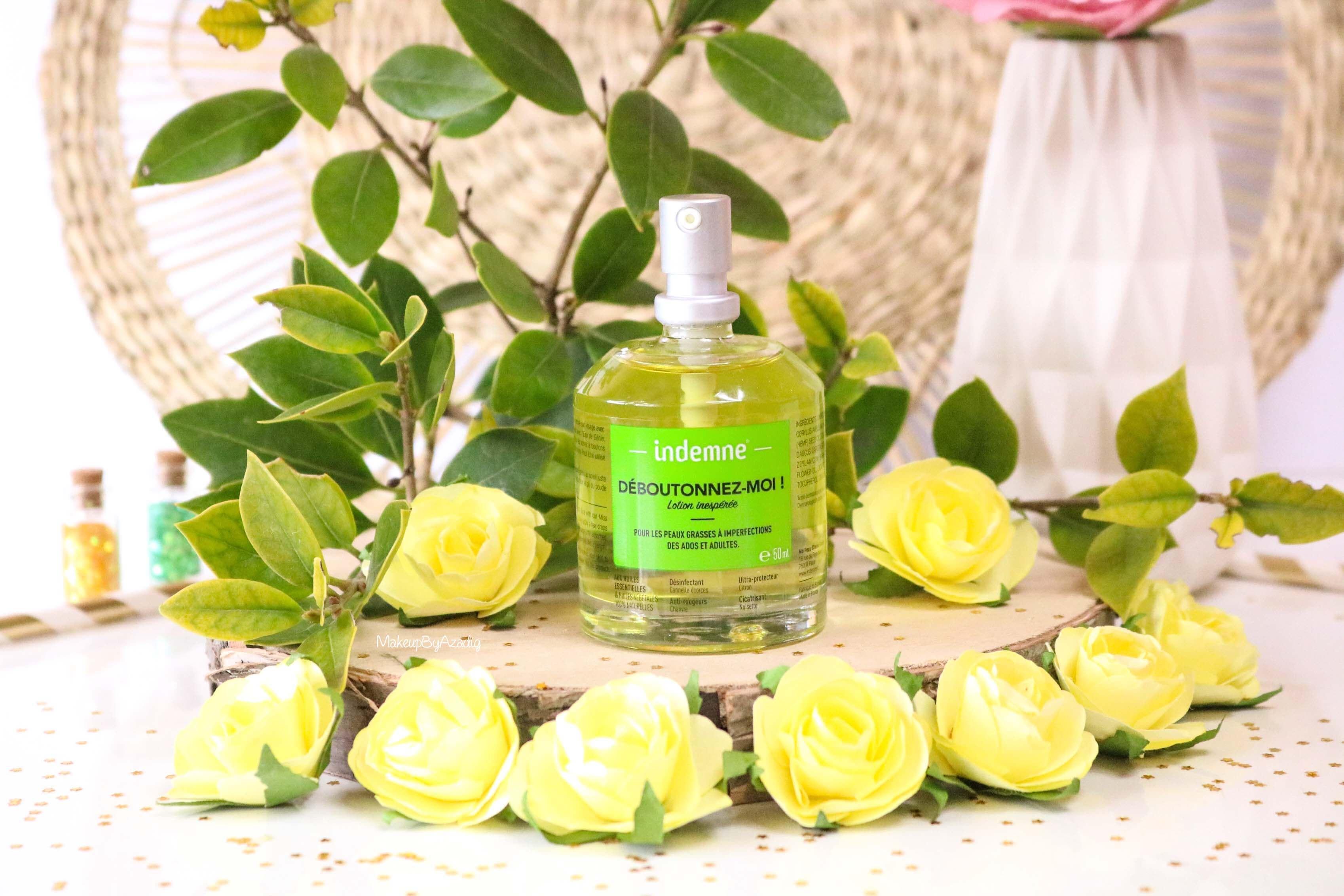 revue-deboutonnez-moi-indemne-produit-acnee-bio-huiles-parapharmacie-prix-avis-makeupbyazadig-lotion