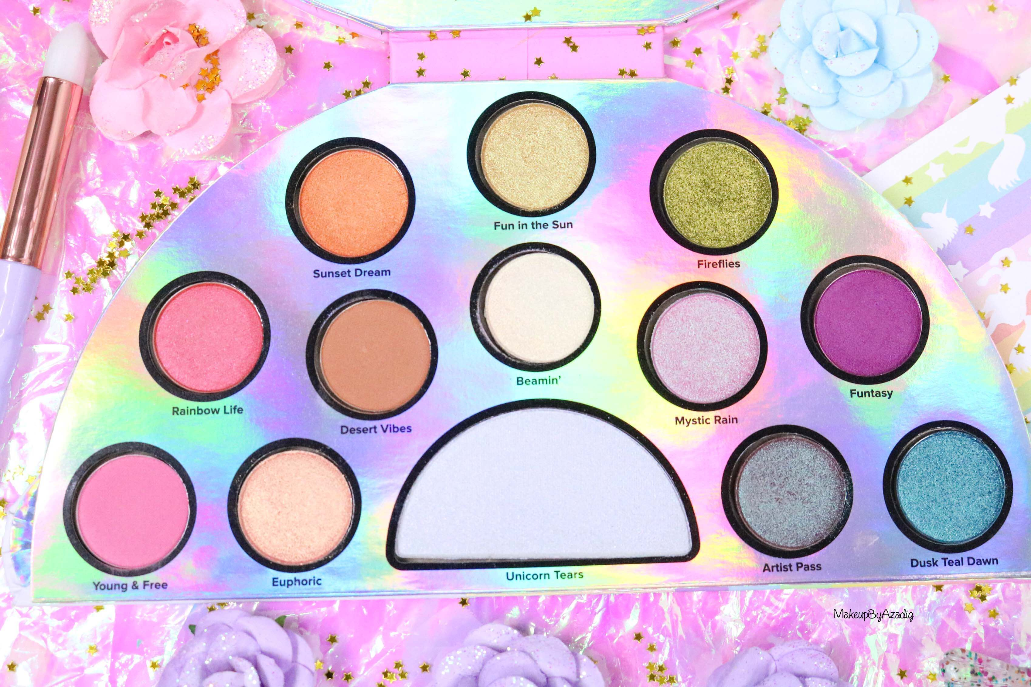 revue-palette-lifes-a-festival-too-faced-france-sephora-avis-prix-revue-makeupbyazadig-collection-licorne-teintes
