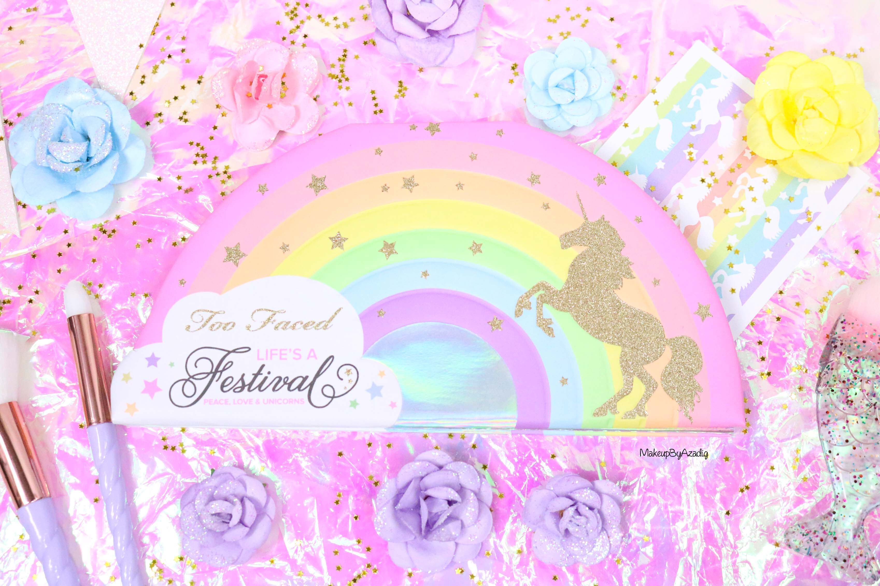 revue-palette-lifes-a-festival-too-faced-france-sephora-avis-prix-revue-makeupbyazadig-collection-licorne-unicorn-tears