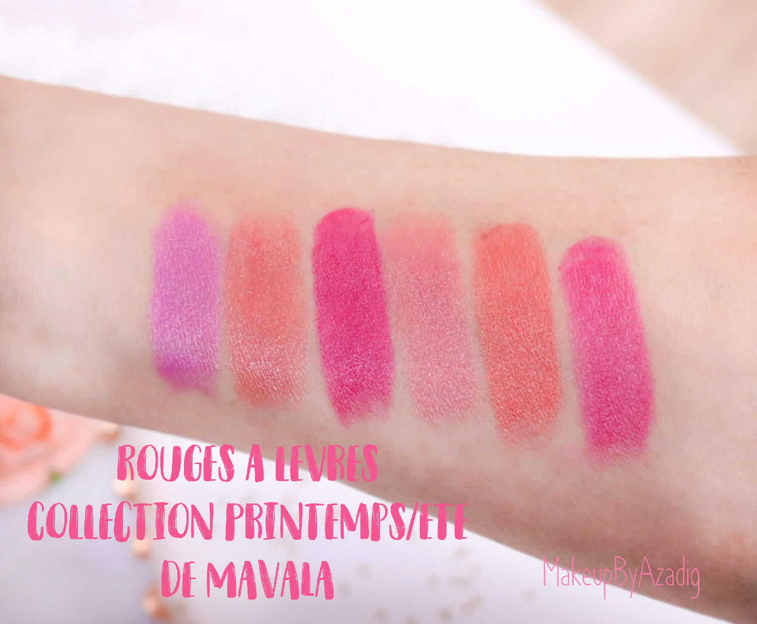 revue-rouge-levres-mavala-soin-monoprix-collection-printemps-ete-rose-nude-violet-avis-prix-makeupbyazadig-swatch