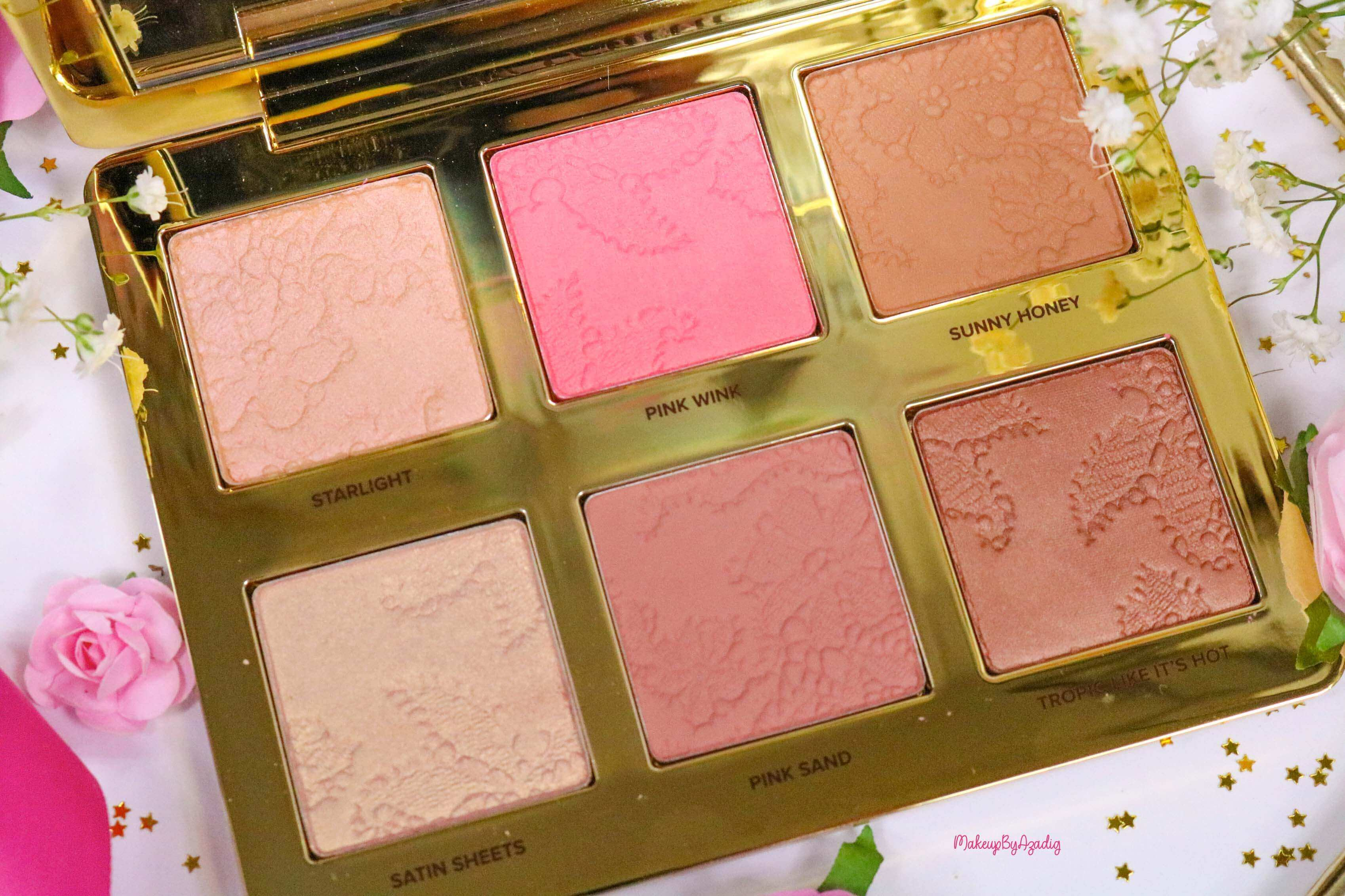 revue-review-palette-teint-natural-face-too-faced-makeupbyazadig-sephora-france-avis-prix-swatch-blush-highlighter-zoom