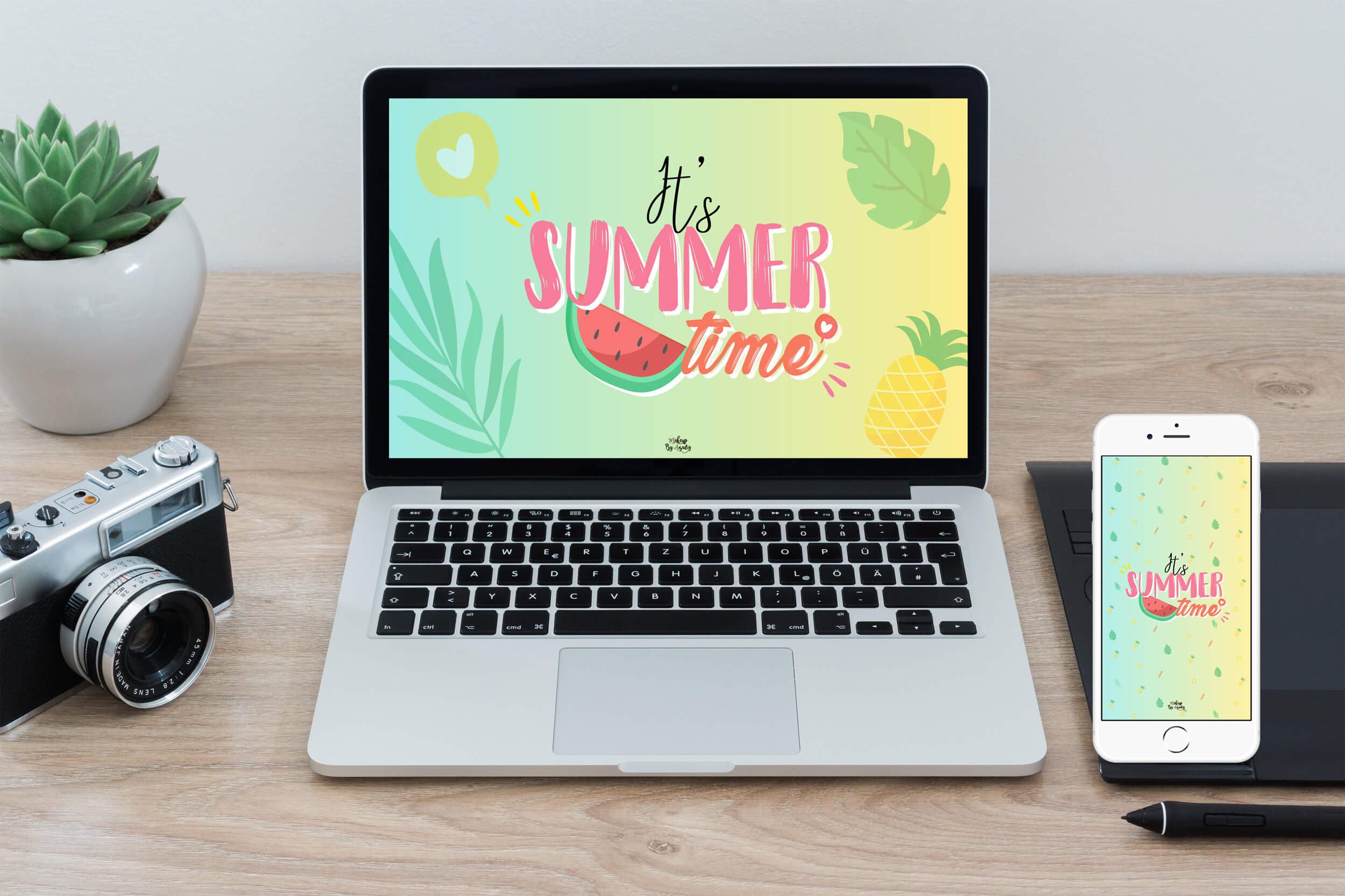 mockup-fond-decran-summer-time-iphone-X-makeupbyazadig-tendance