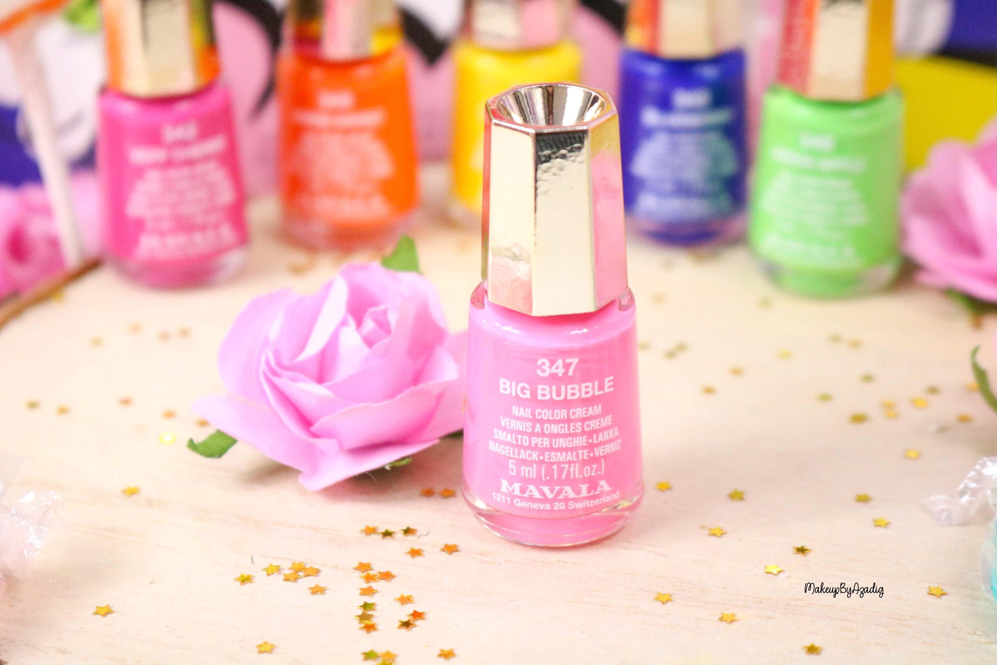 nouvelle-collection-vernis-tendance-printemps-ete-mavala-pas-cher-makeupbyazadig-avis-prix-monoprix-bubble-gum-big